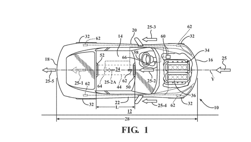 Corvette active aerodynamics duct