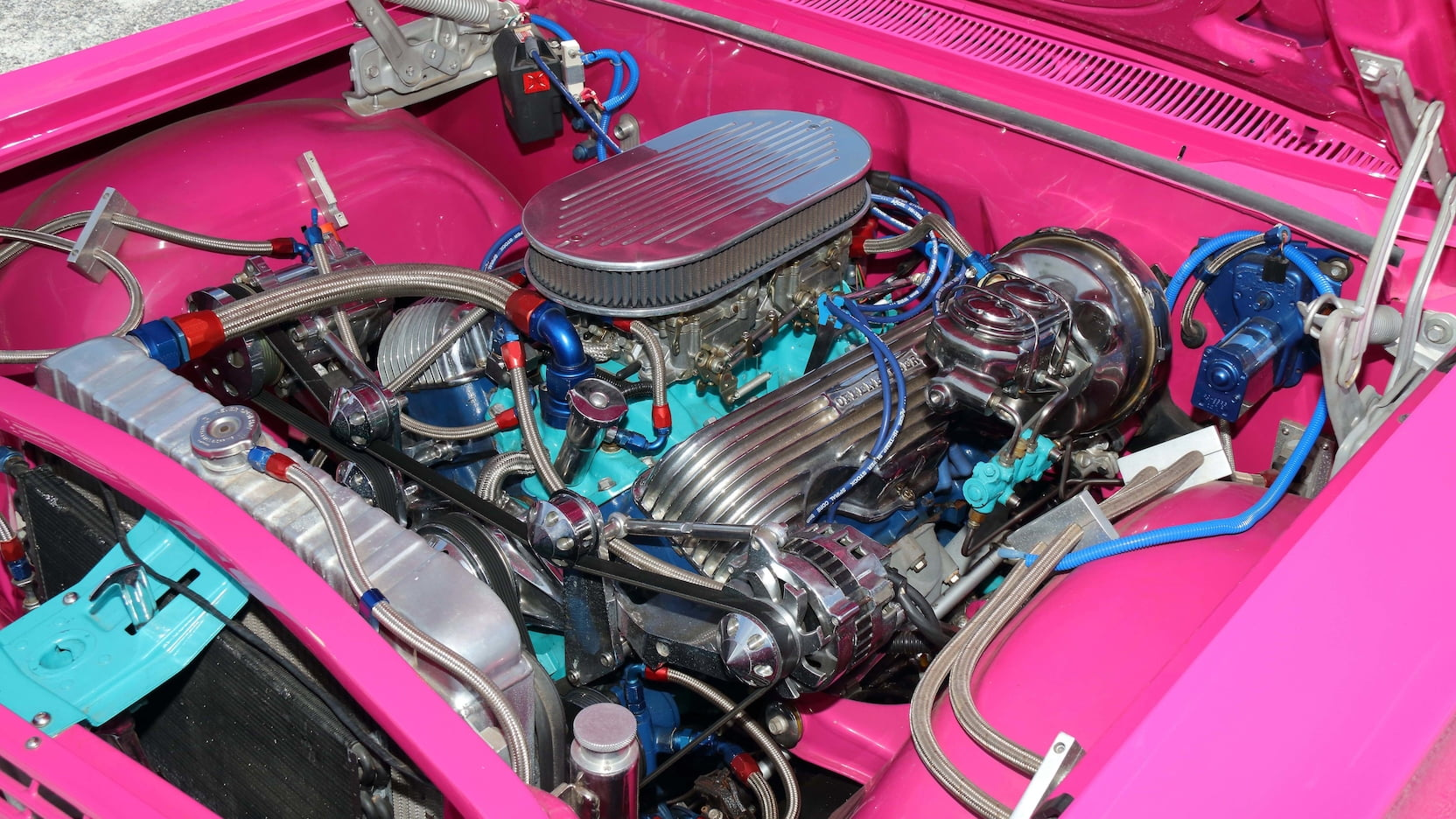 1963 Chevrolet Biscayne engine
