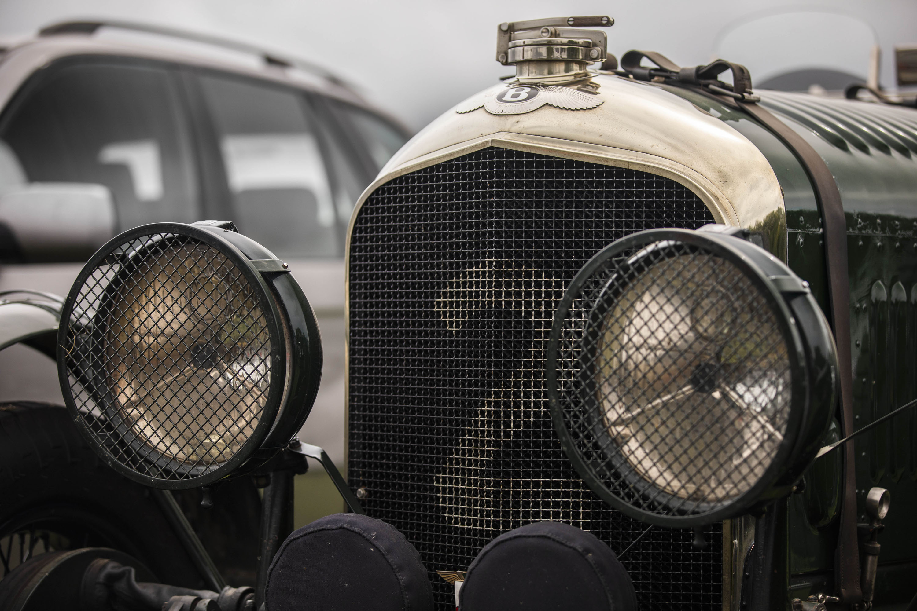 Bentley 4 ½ Litre grille detail