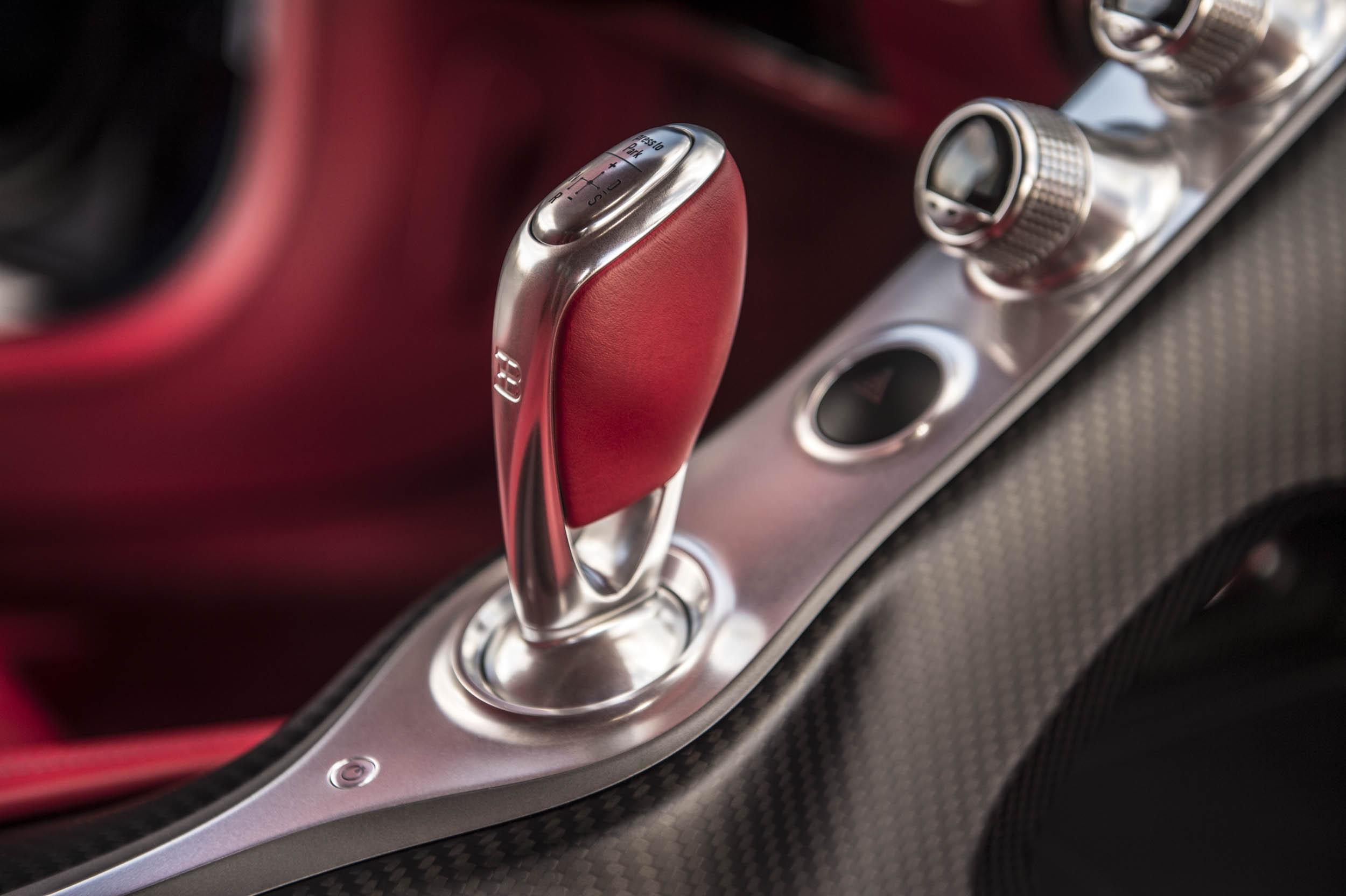 2018 Bugatti Chiron shifter knob