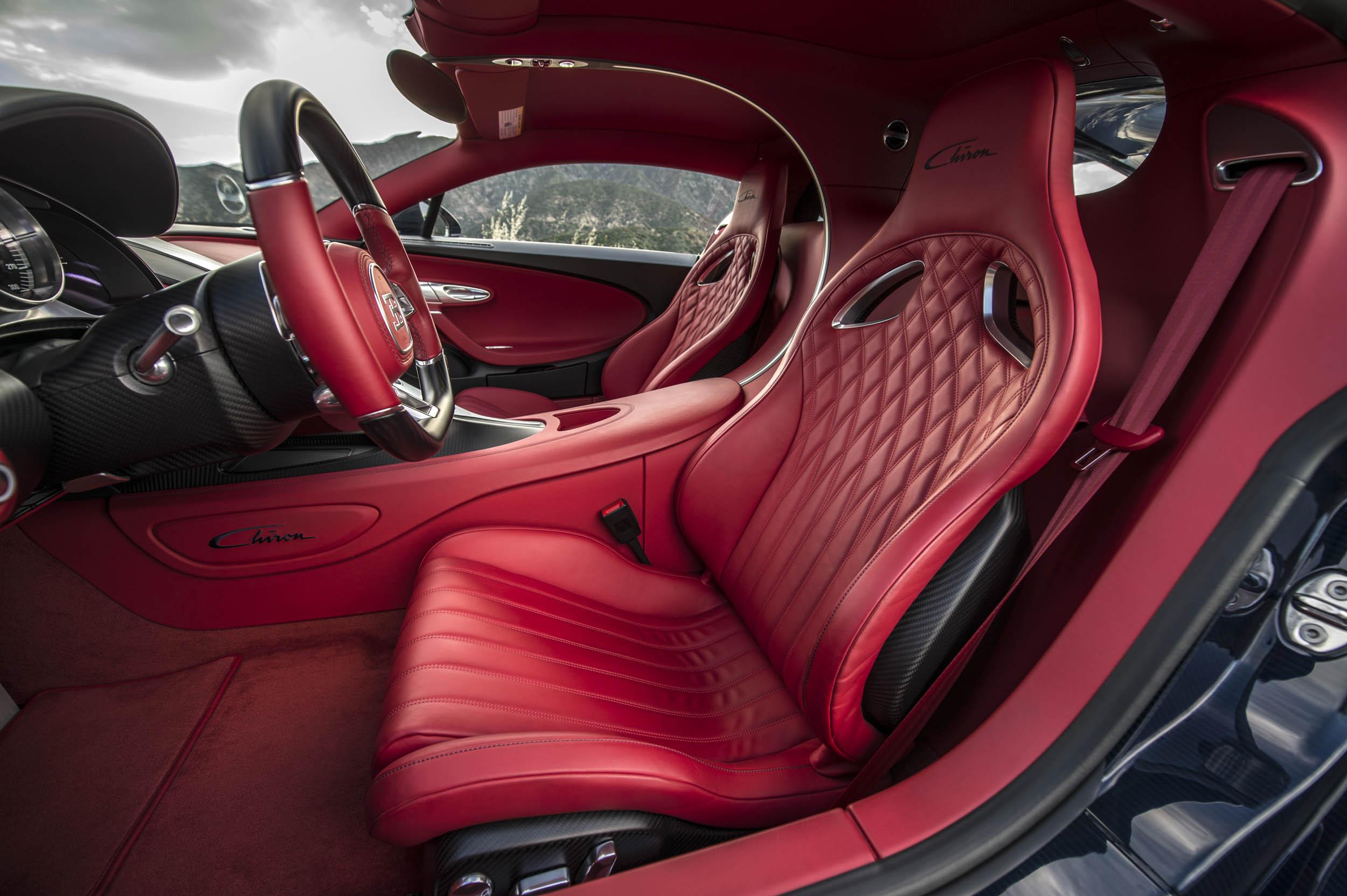 2018 Bugatti Chiron interior