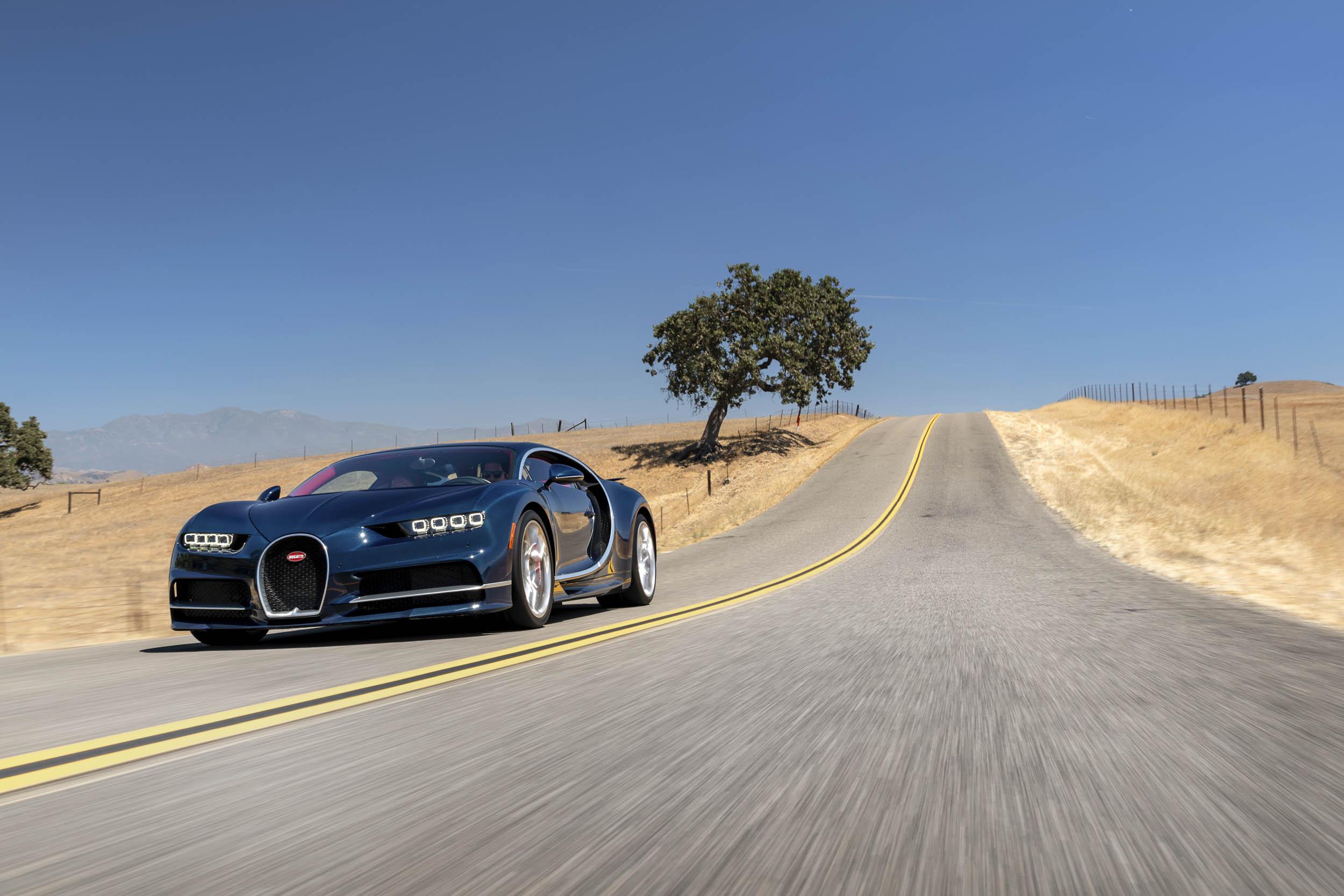 2018 Bugatti Chiron driving