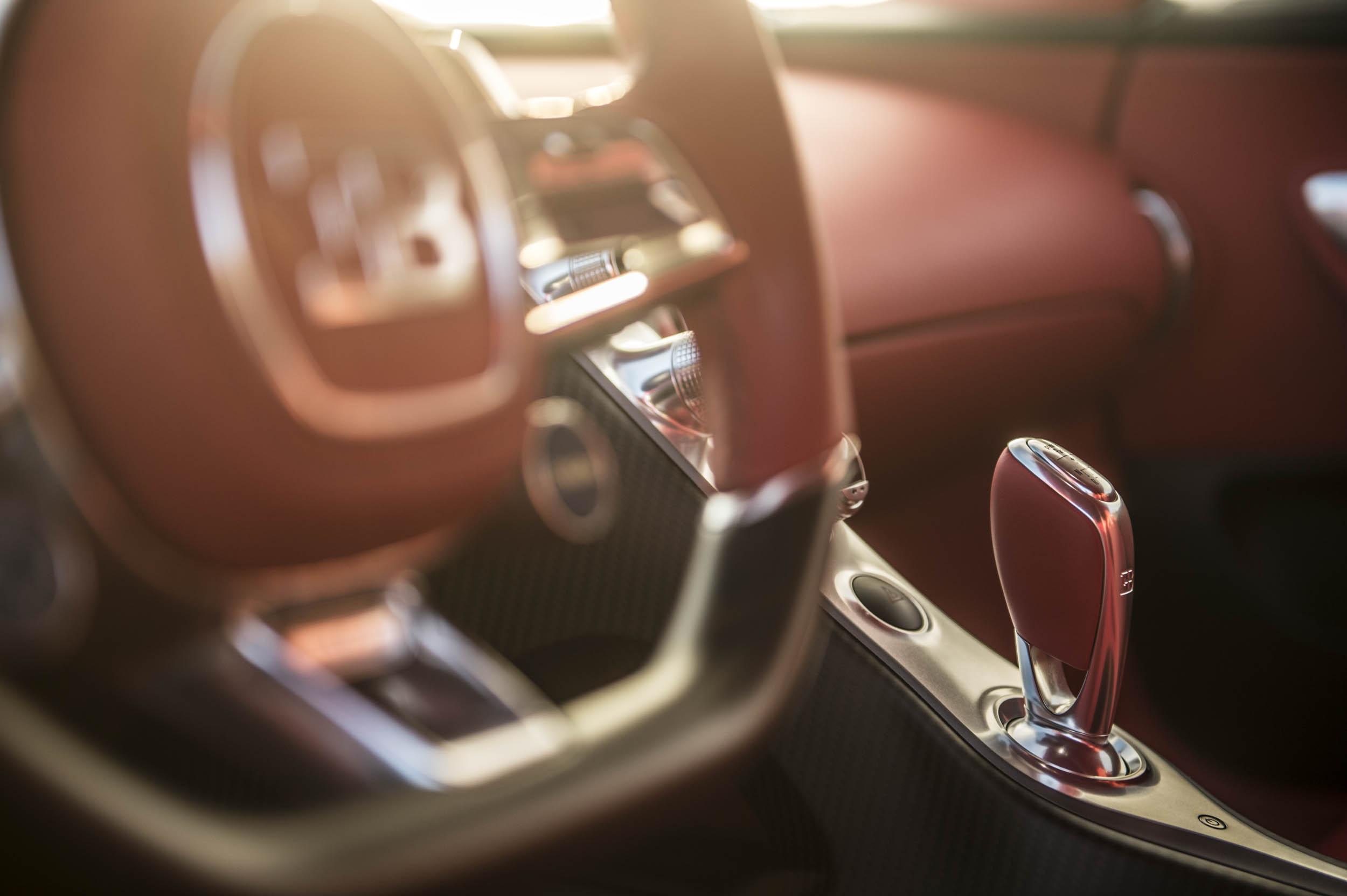2018 Bugatti Chiron interior detail