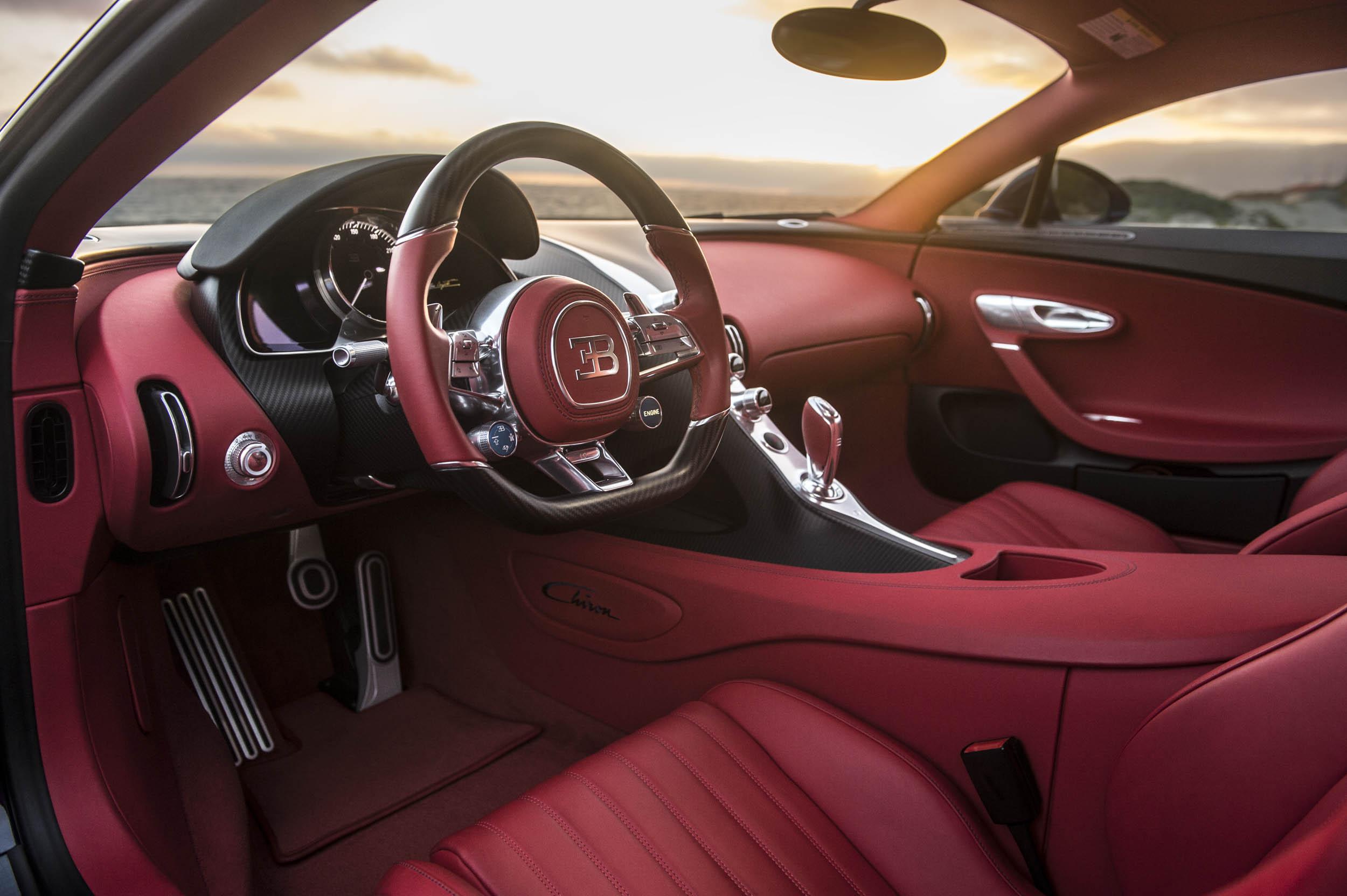 2018 Bugatti Chiron drivers seat