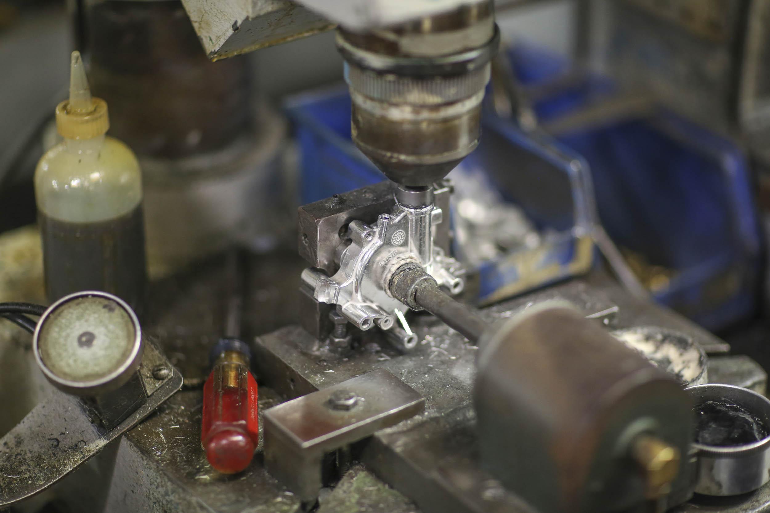 Holley four-barrel carburetor machining