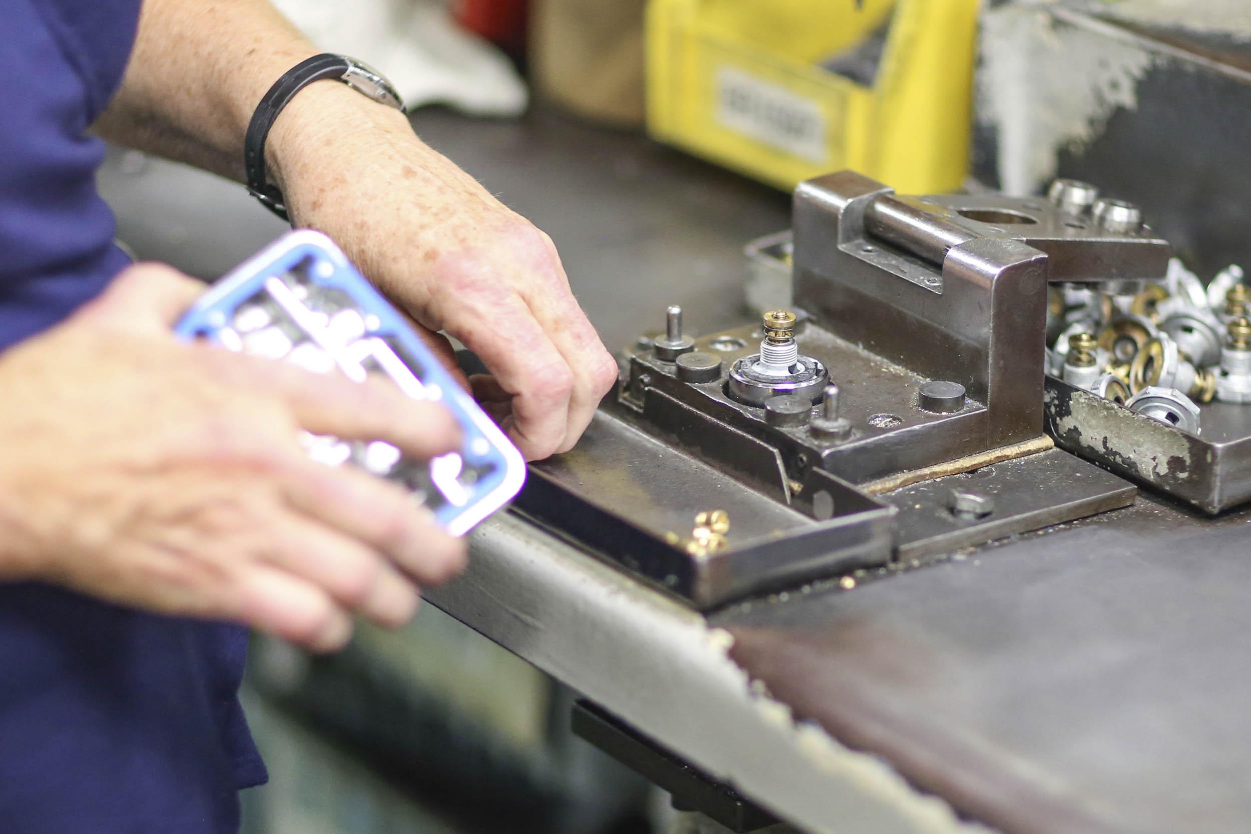 Holley carburetor metering block gets its gaskets