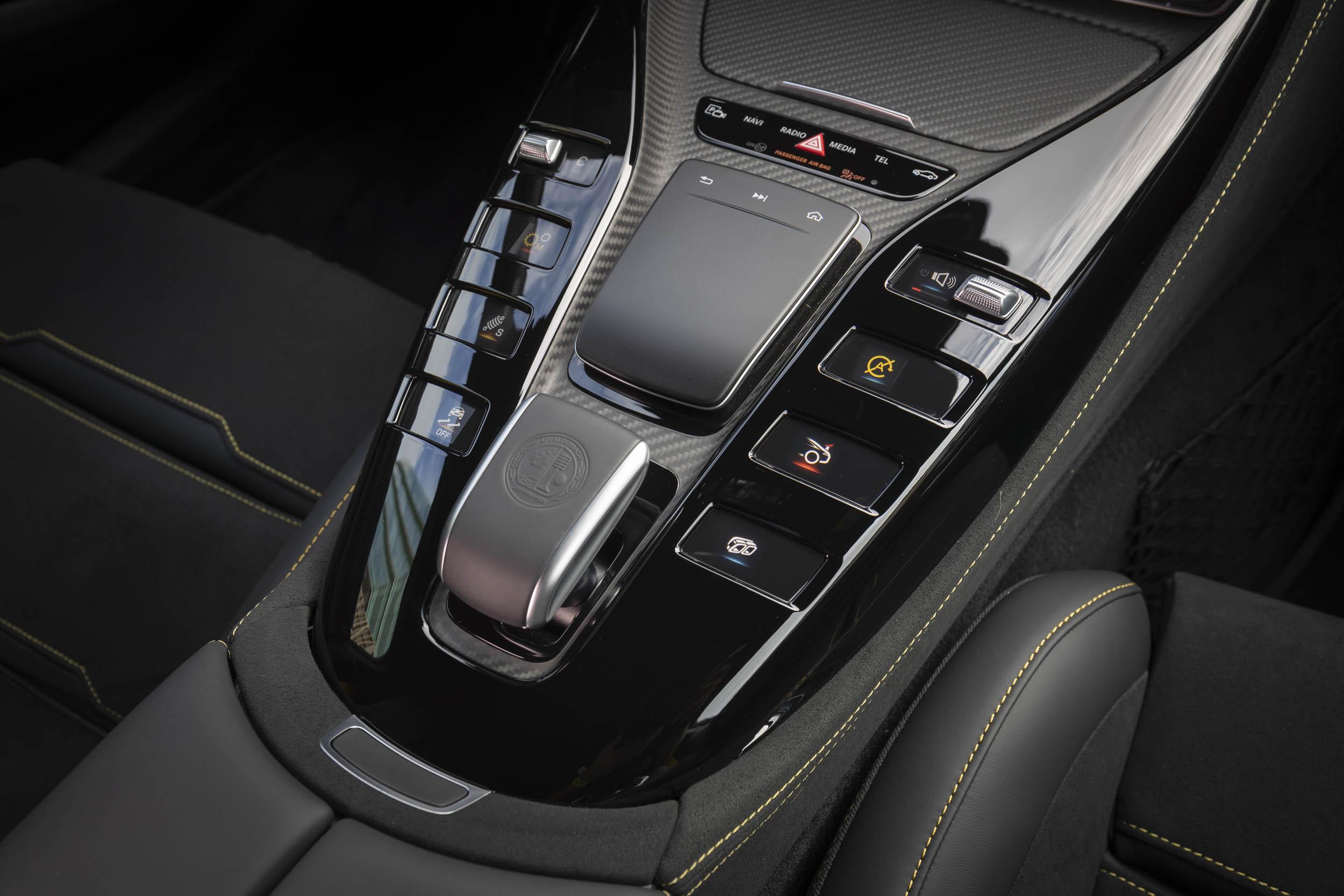 Mercedes-AMG GT 63 S center console button detail
