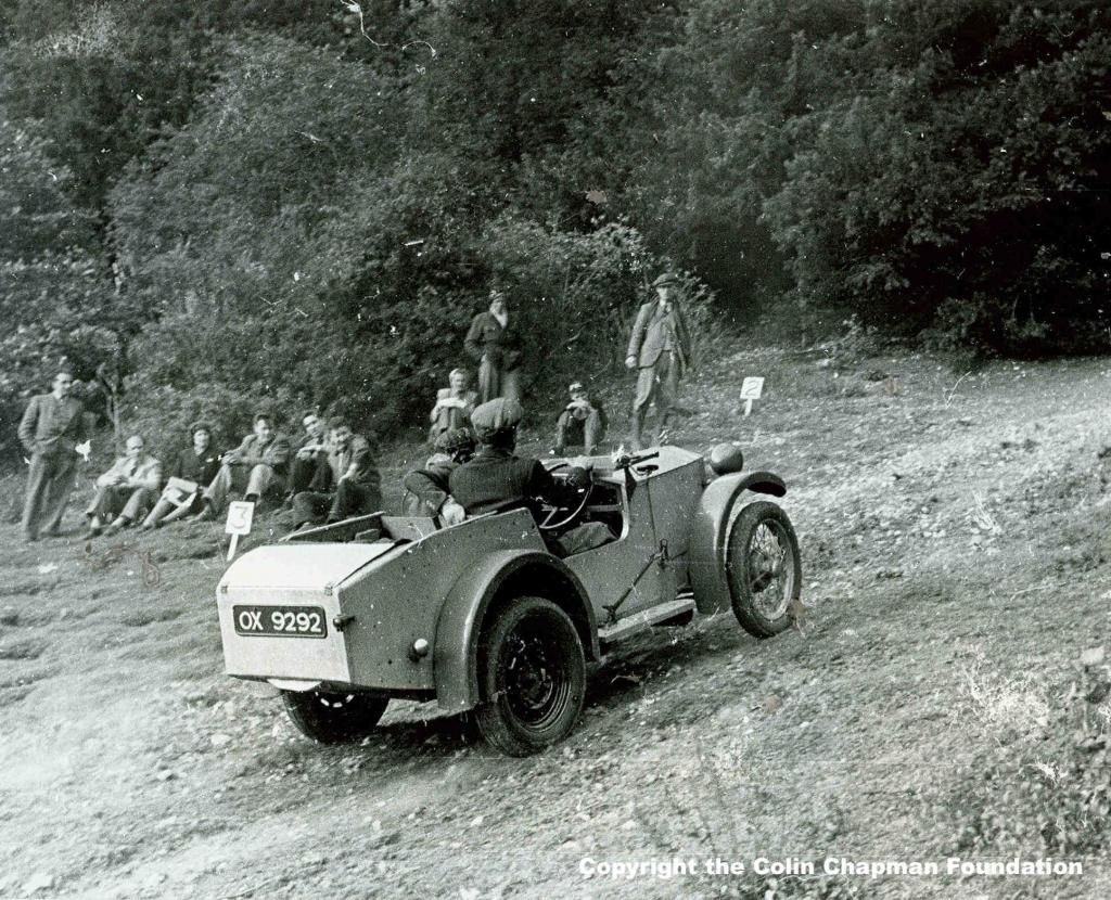 Colin Chapman competing in the Lotus Mark I.