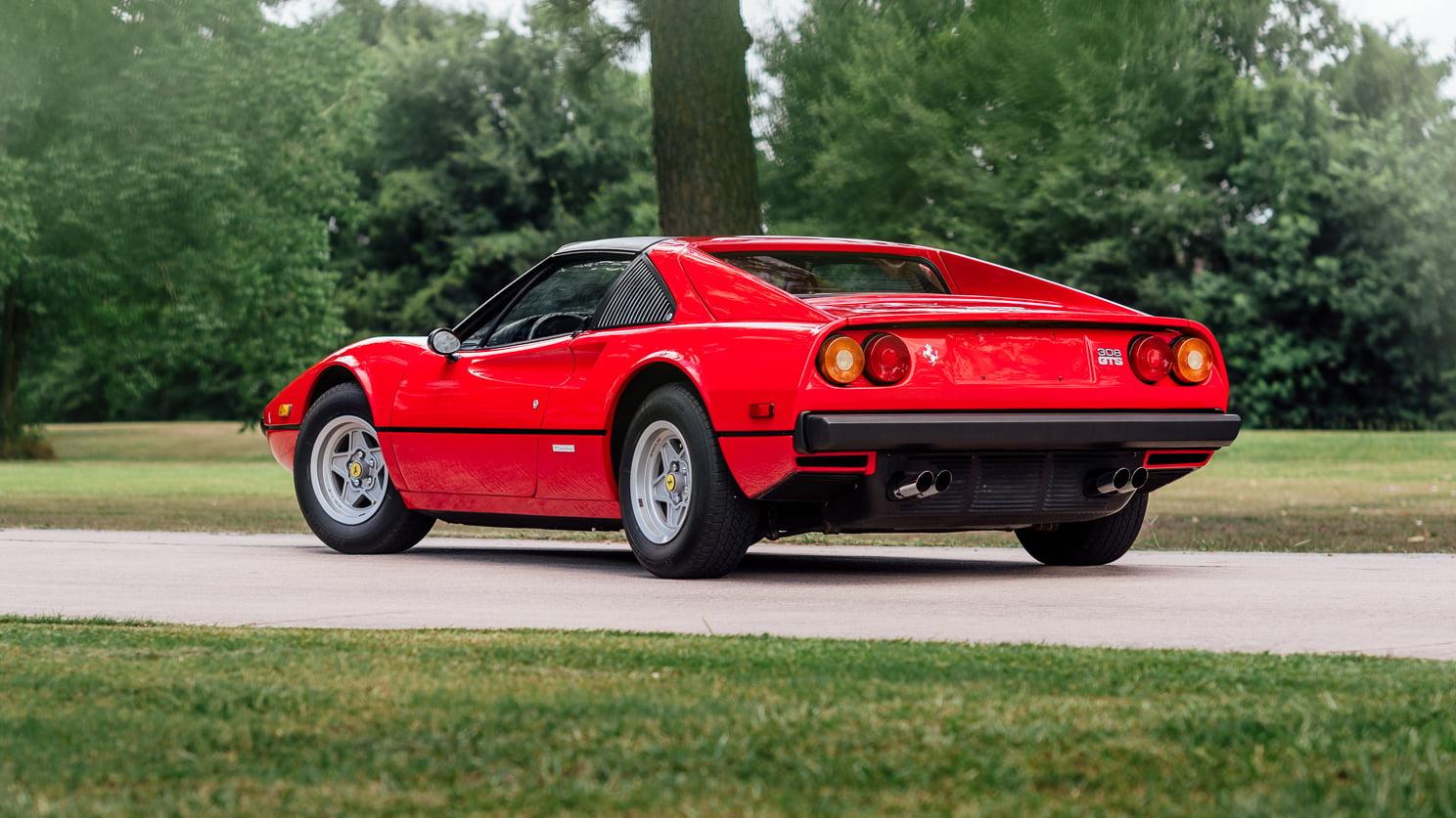 1979 Ferrari 308 GTS Mecum rear 3/4