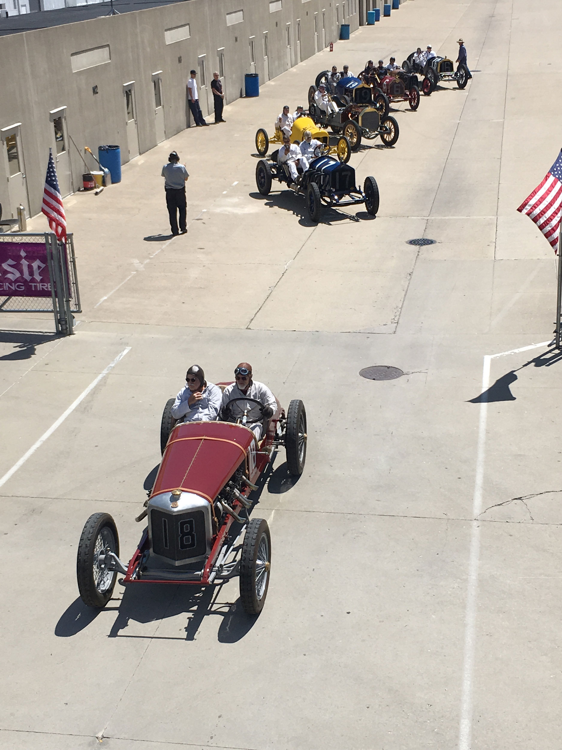 1916 Sturtevant-Auburn Romano Special in the Indy pits