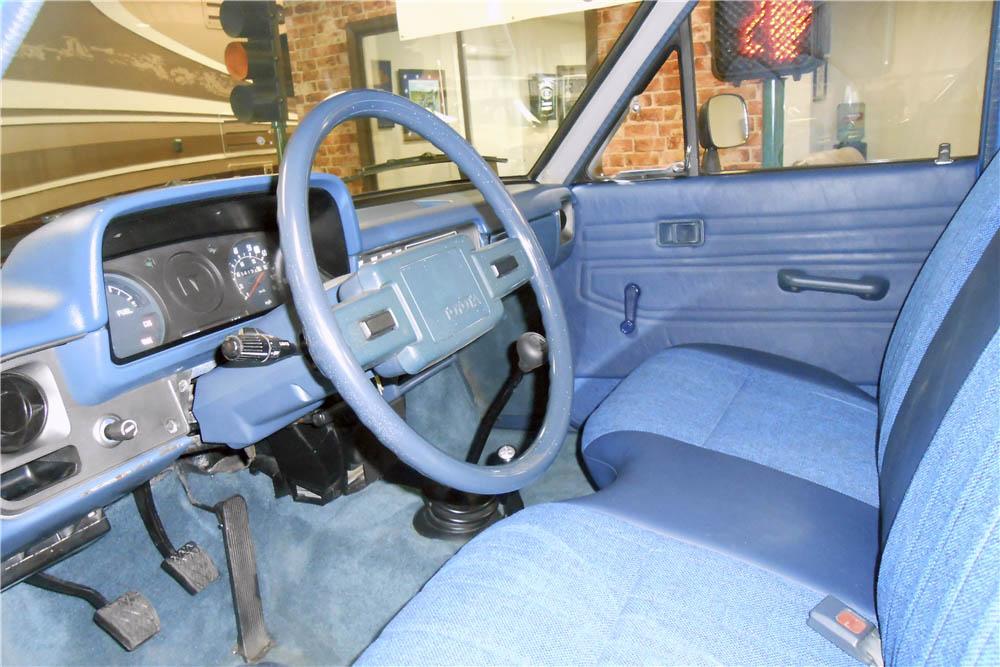 1980 Toyota 4X4 Pickup interior