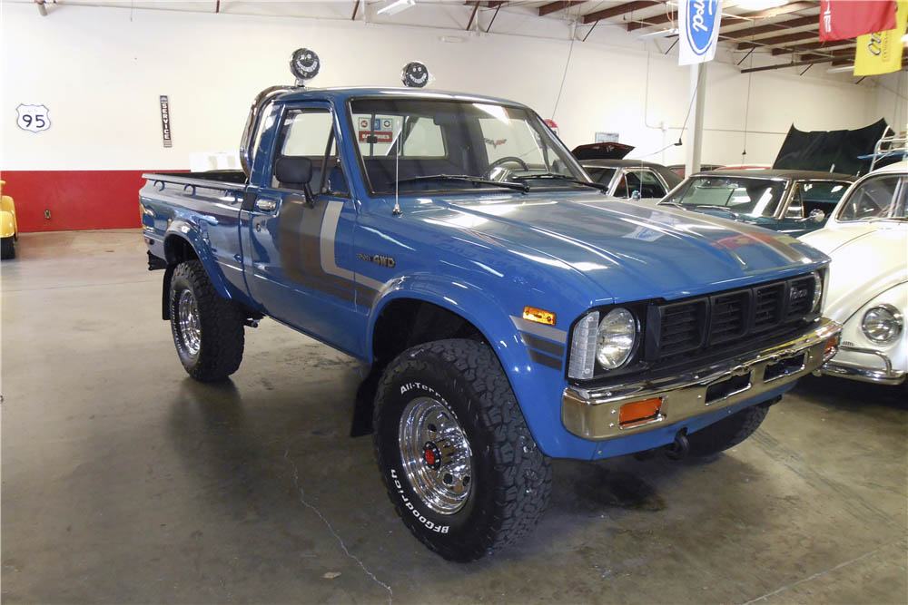 1980 Toyota 4X4 Pickup front 3/4