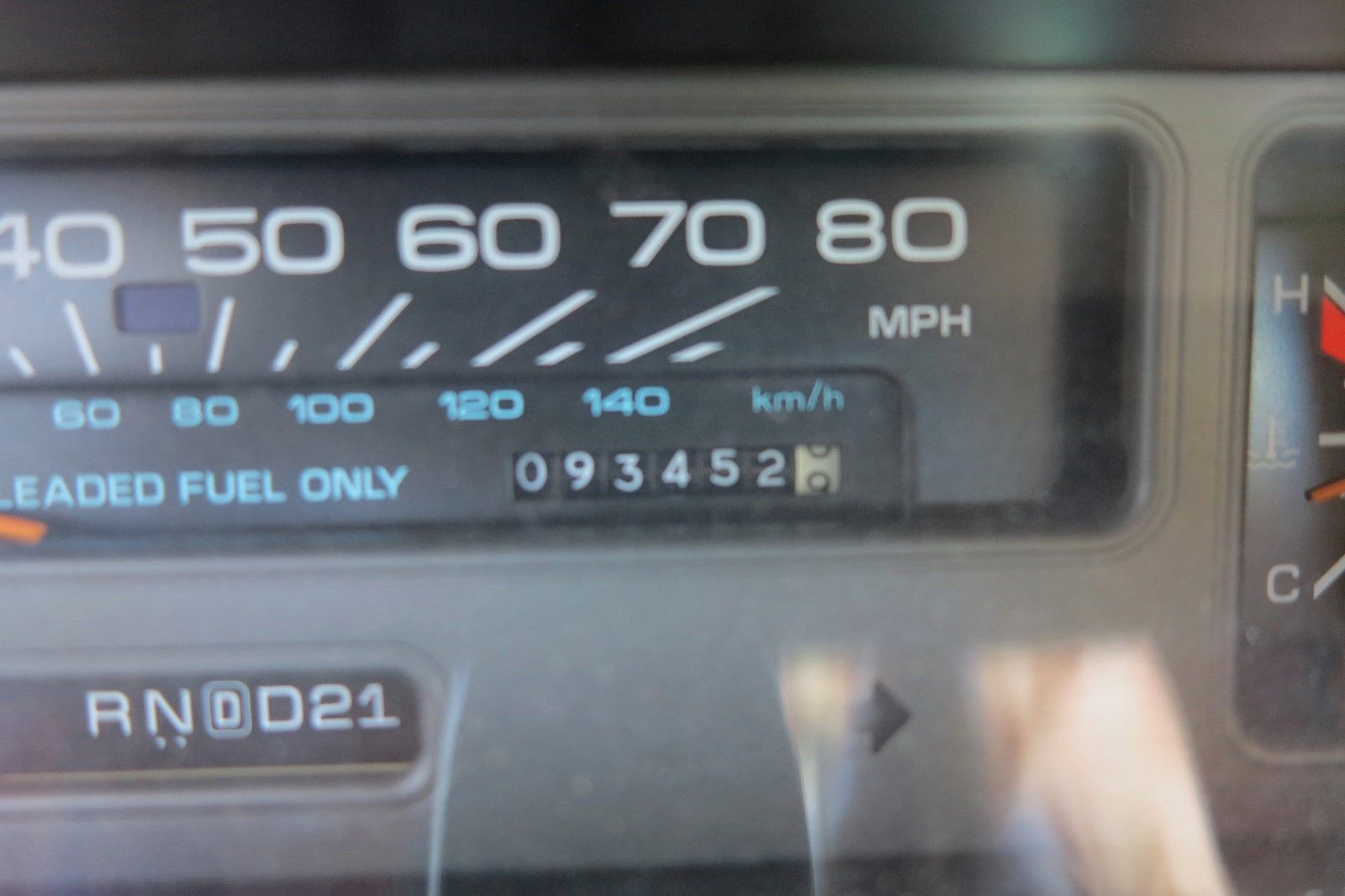 1991 Chevrolet Caprice Classic Wagon odometer