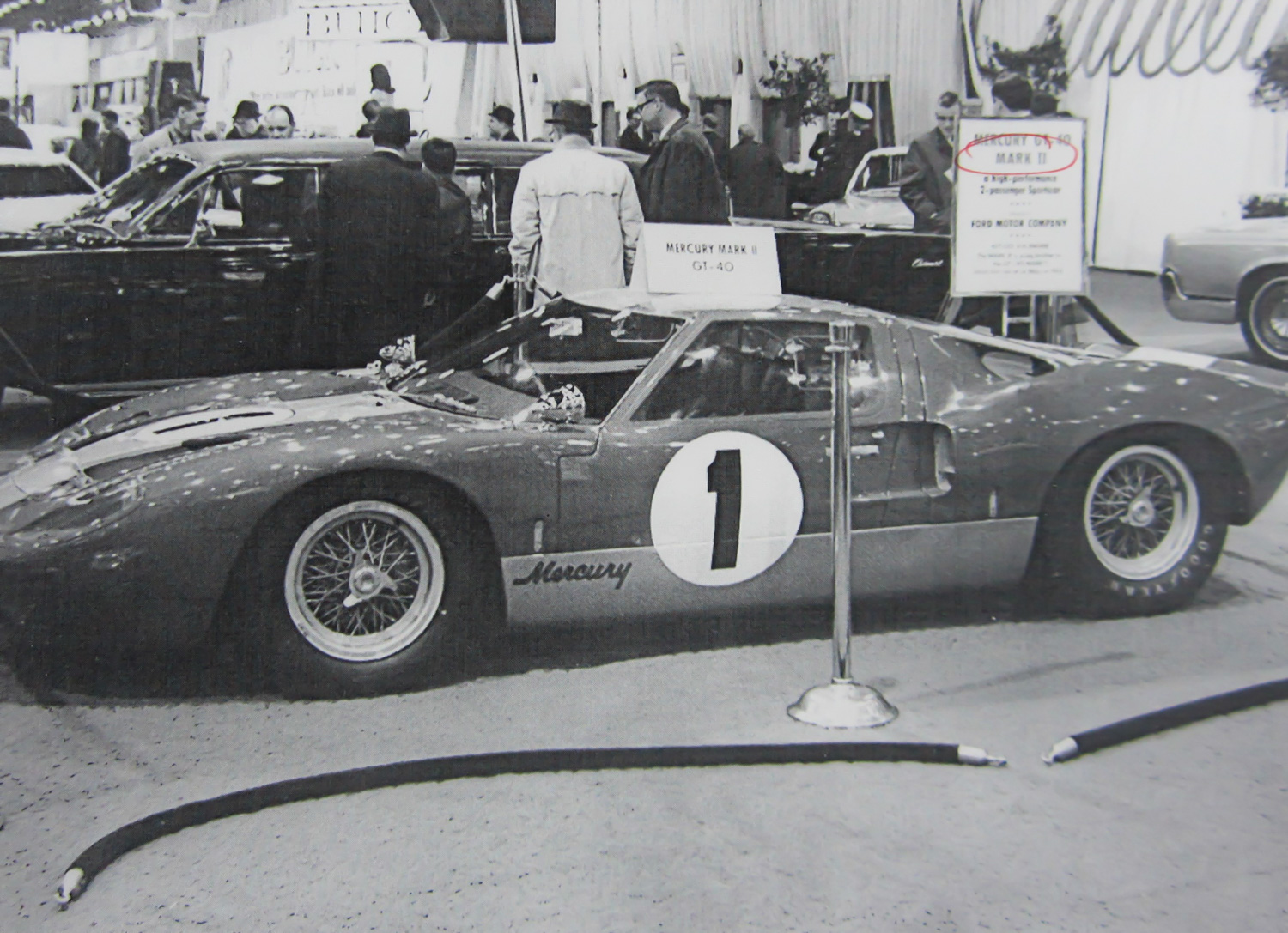 The Mercury GT40 Mk II (actually a Ford GT40 Mk I) at the 1967 Chicago Auto Show.