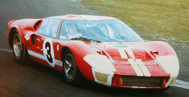 A.J. Foyt drives Mercury GT40 #3, a rebadged Ford GT40 (chassis P/1047), at Daytona in 1967.