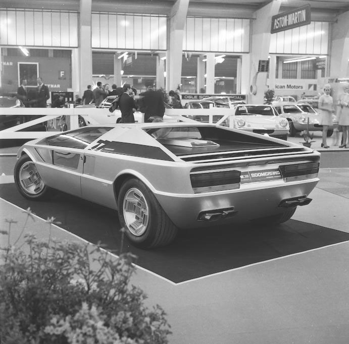 1972 Maserati Boomerang coupé car show