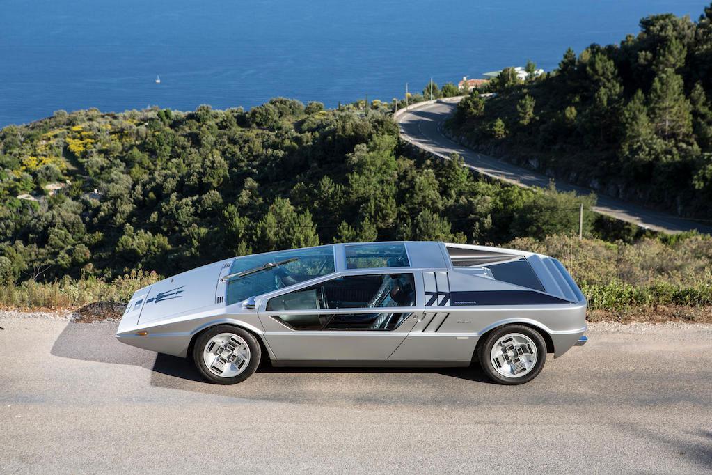 1972 Maserati Boomerang coupé profile