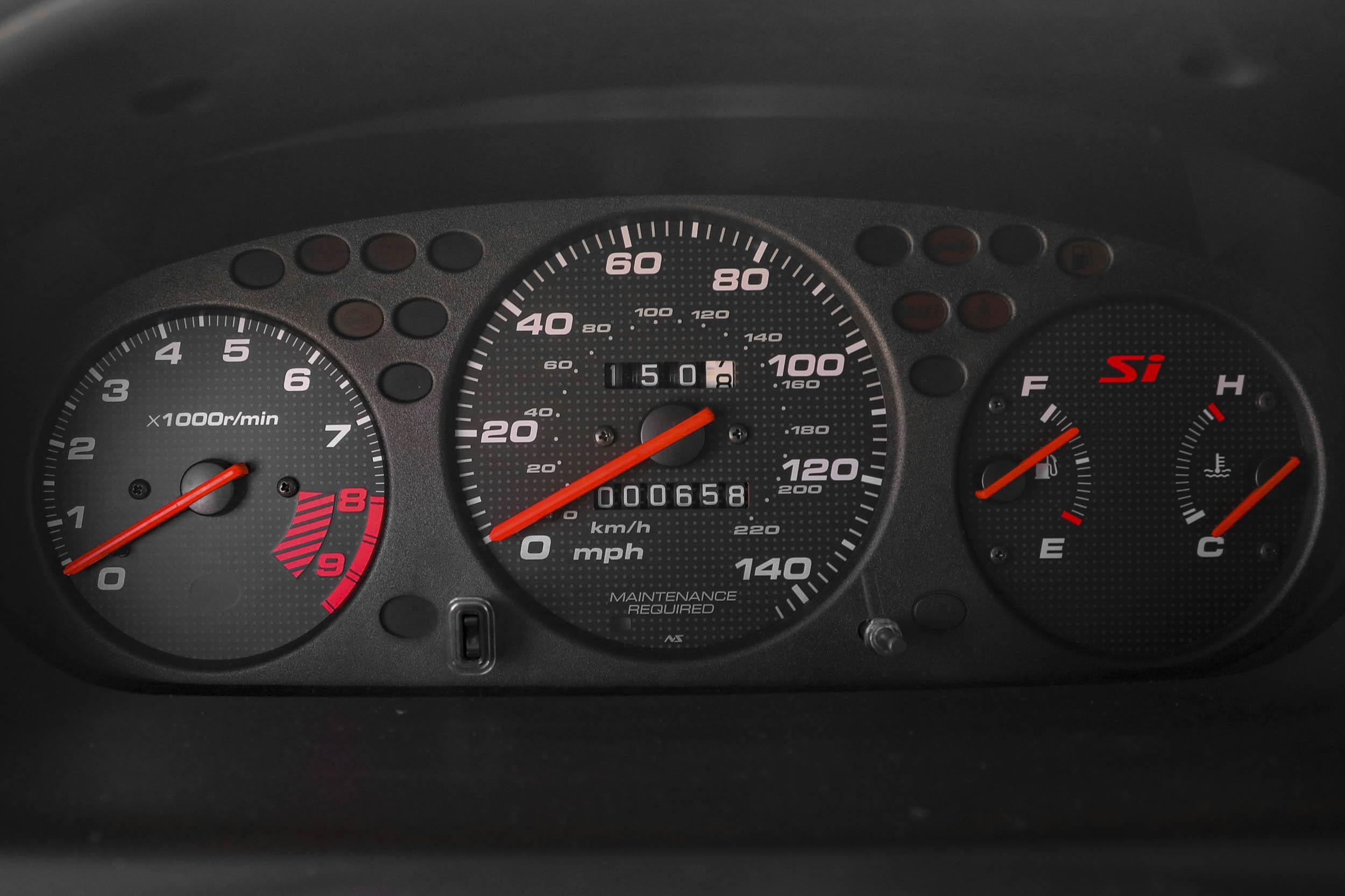 1999 Honda Civic Si gauges