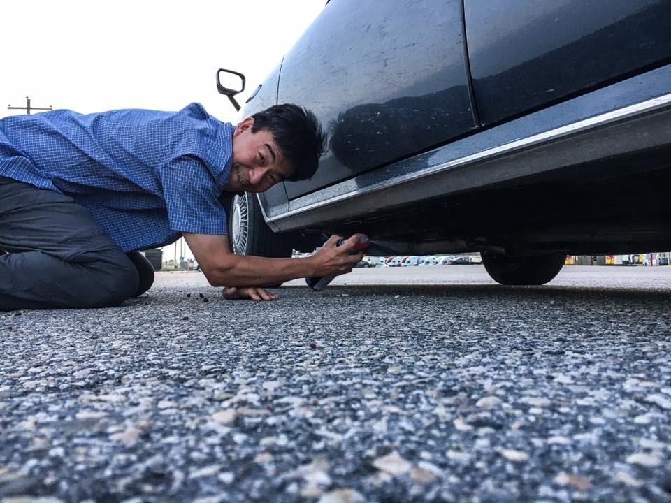 Toyota Century under spray