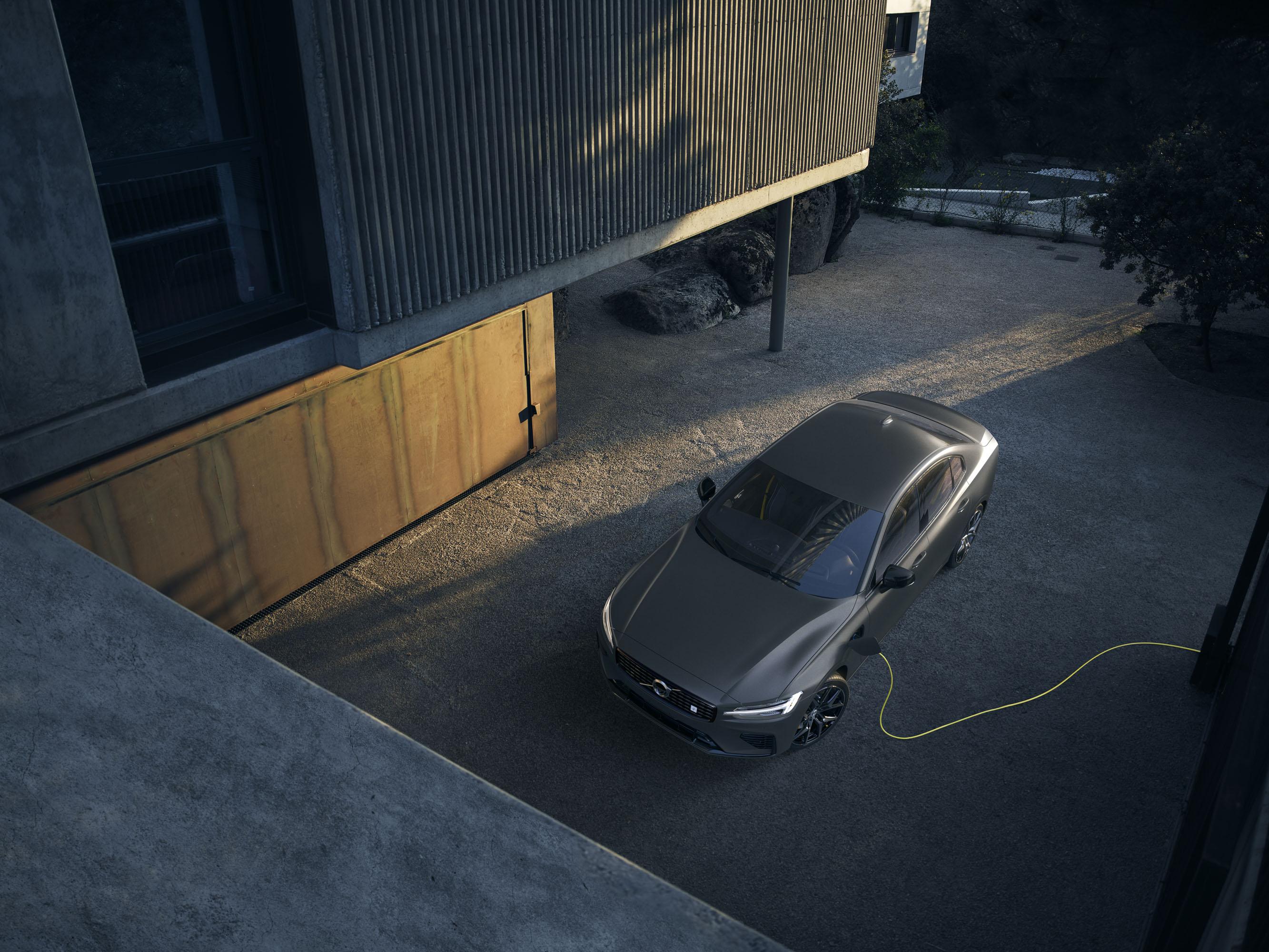 2019 Volvo S60 Polestar in grey charging