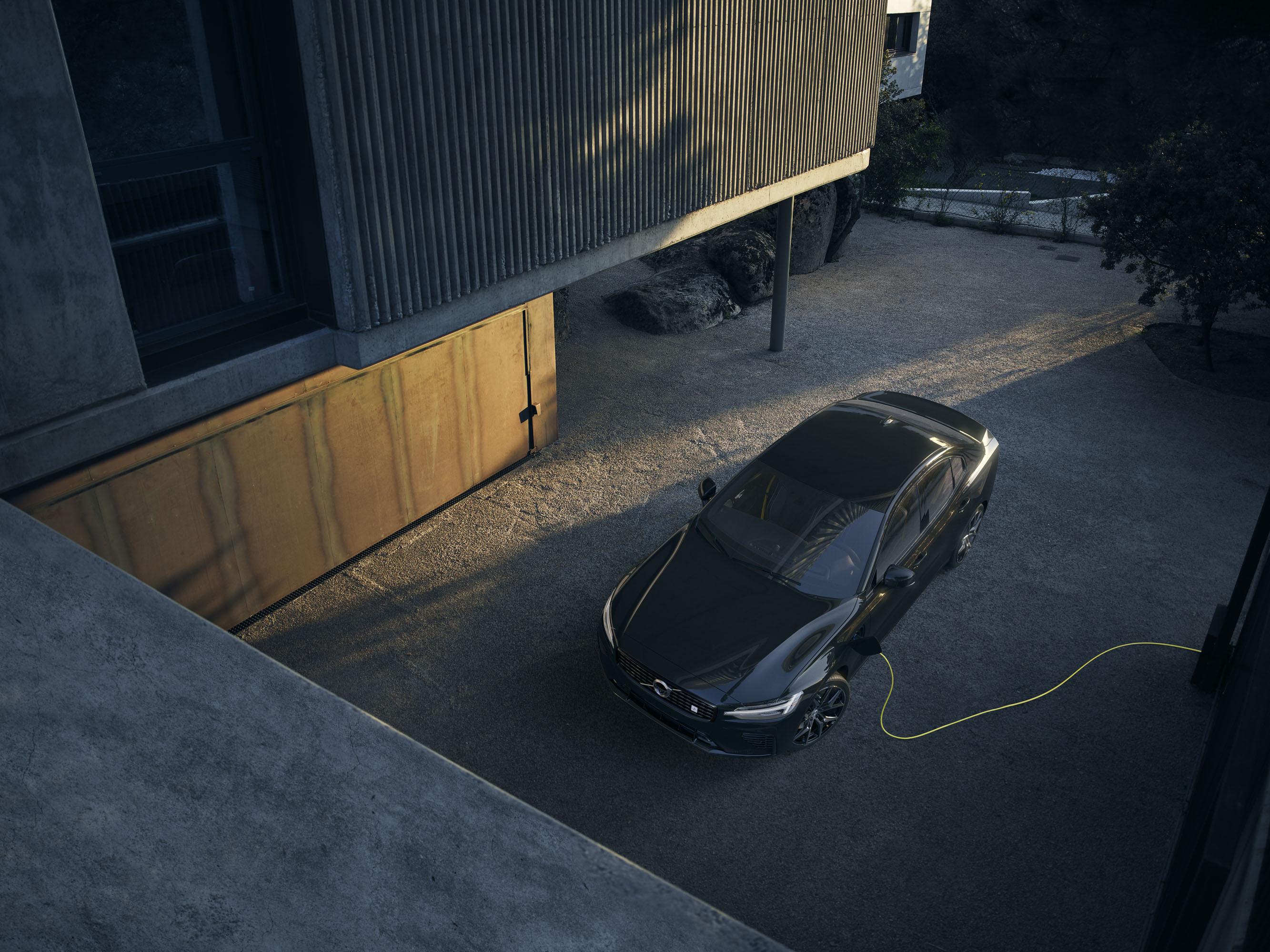 2019 Volvo S60 Polestar in black EV charging