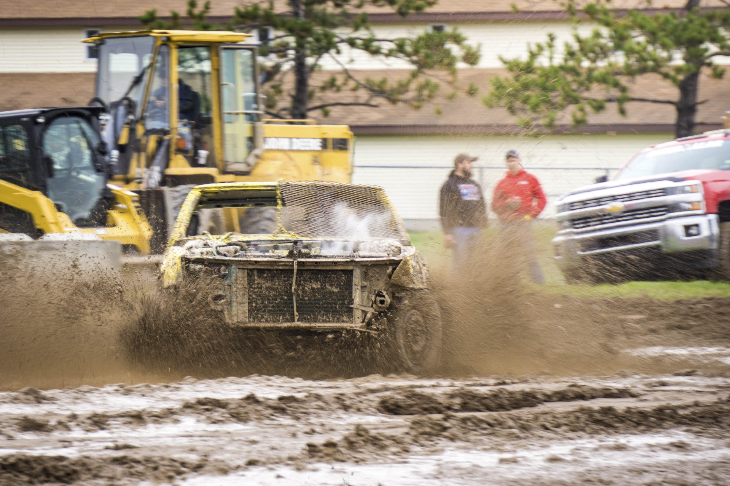 demolition derby bump and run racing in the mud
