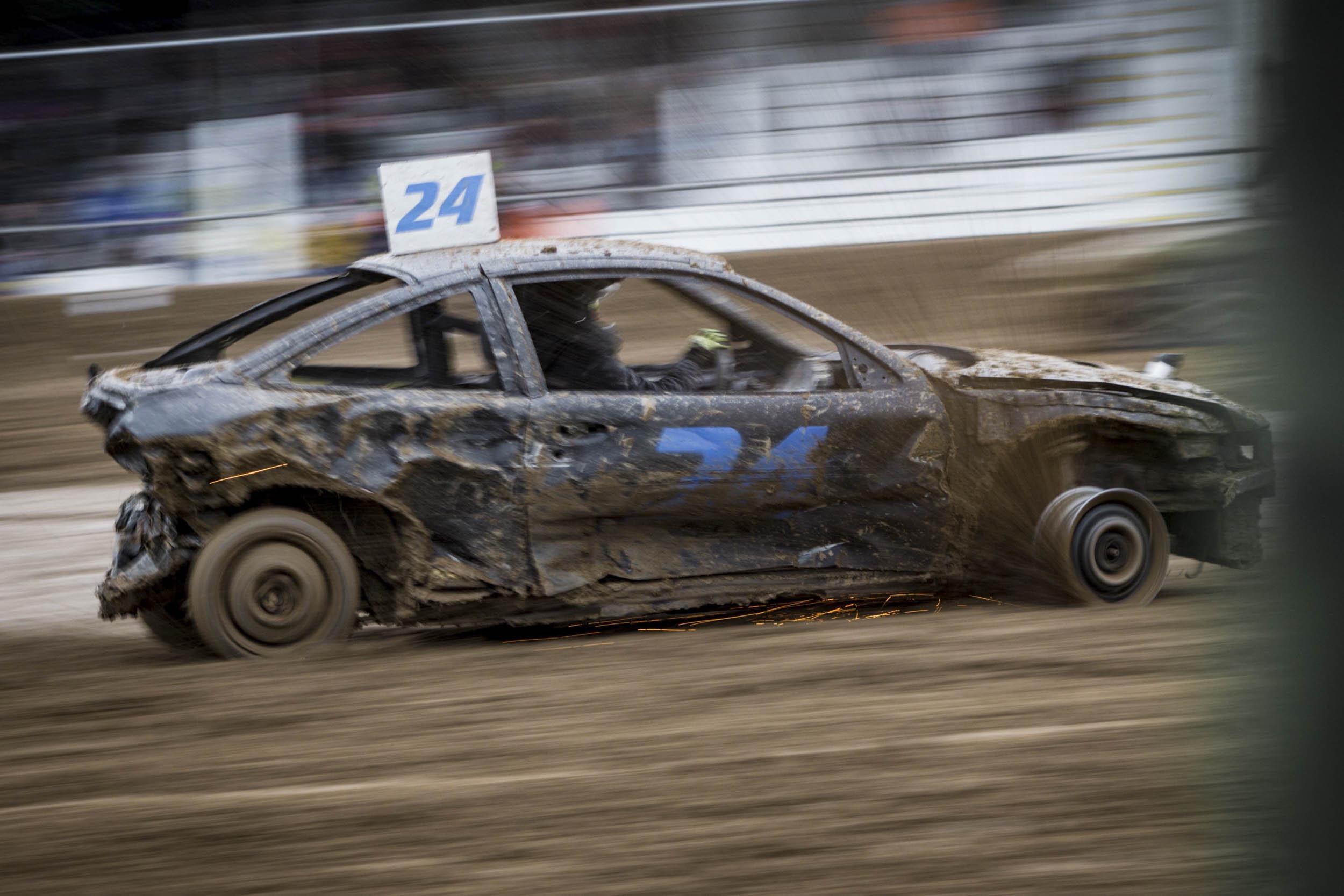 demolition derby car profile