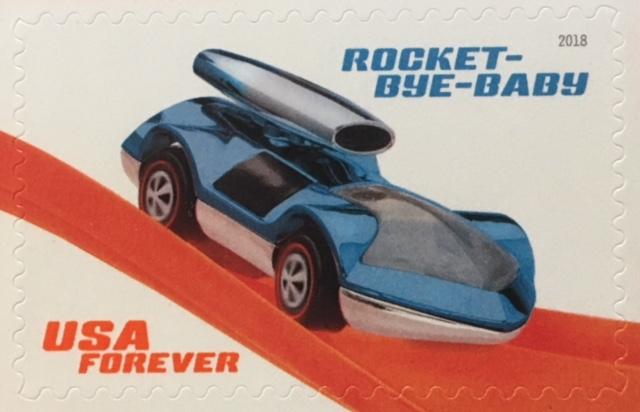 Rocket-Bye-Baby Hot Wheel Stamp