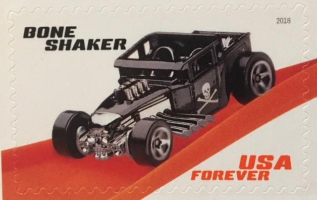Bone Shaker Hot Wheels Stamp