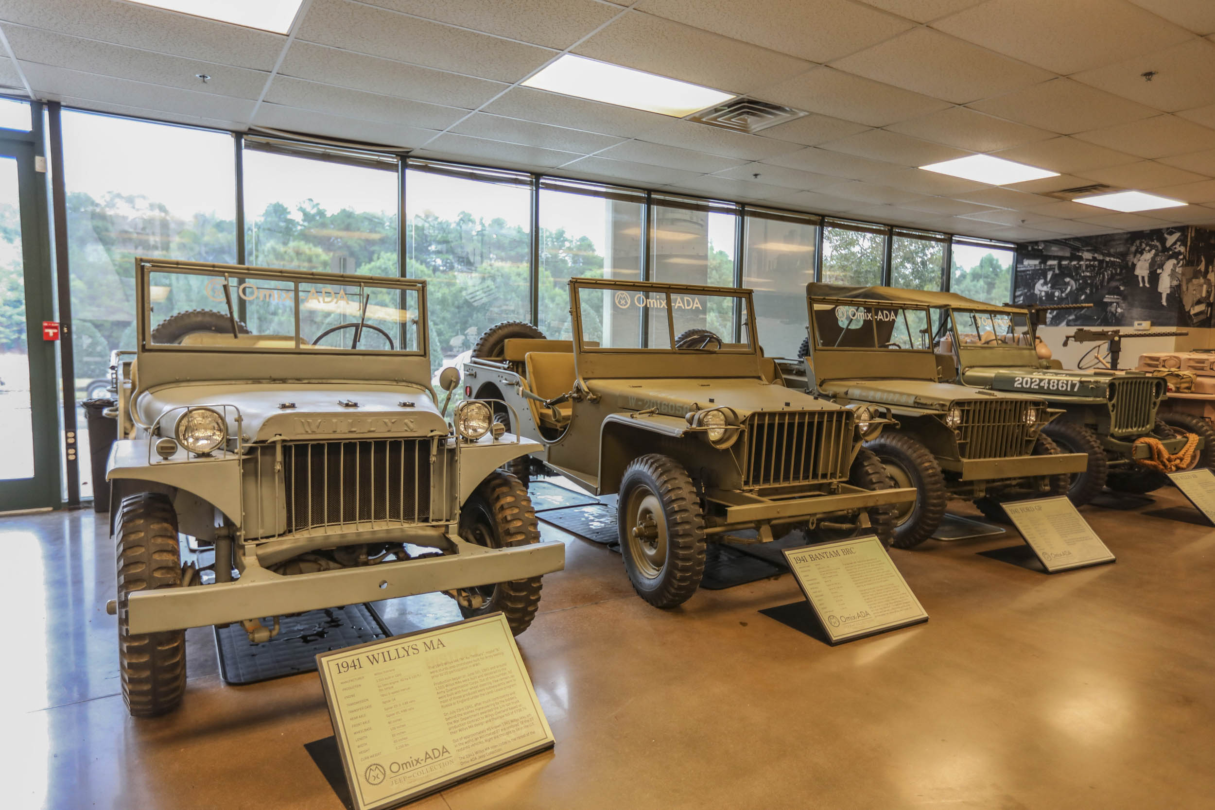 1941 Willys MA, 1941 Bantam BRC, and 1941 Ford GP