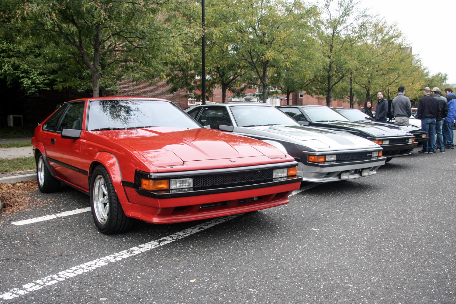 What's an '80s car show without Toyota Supras?