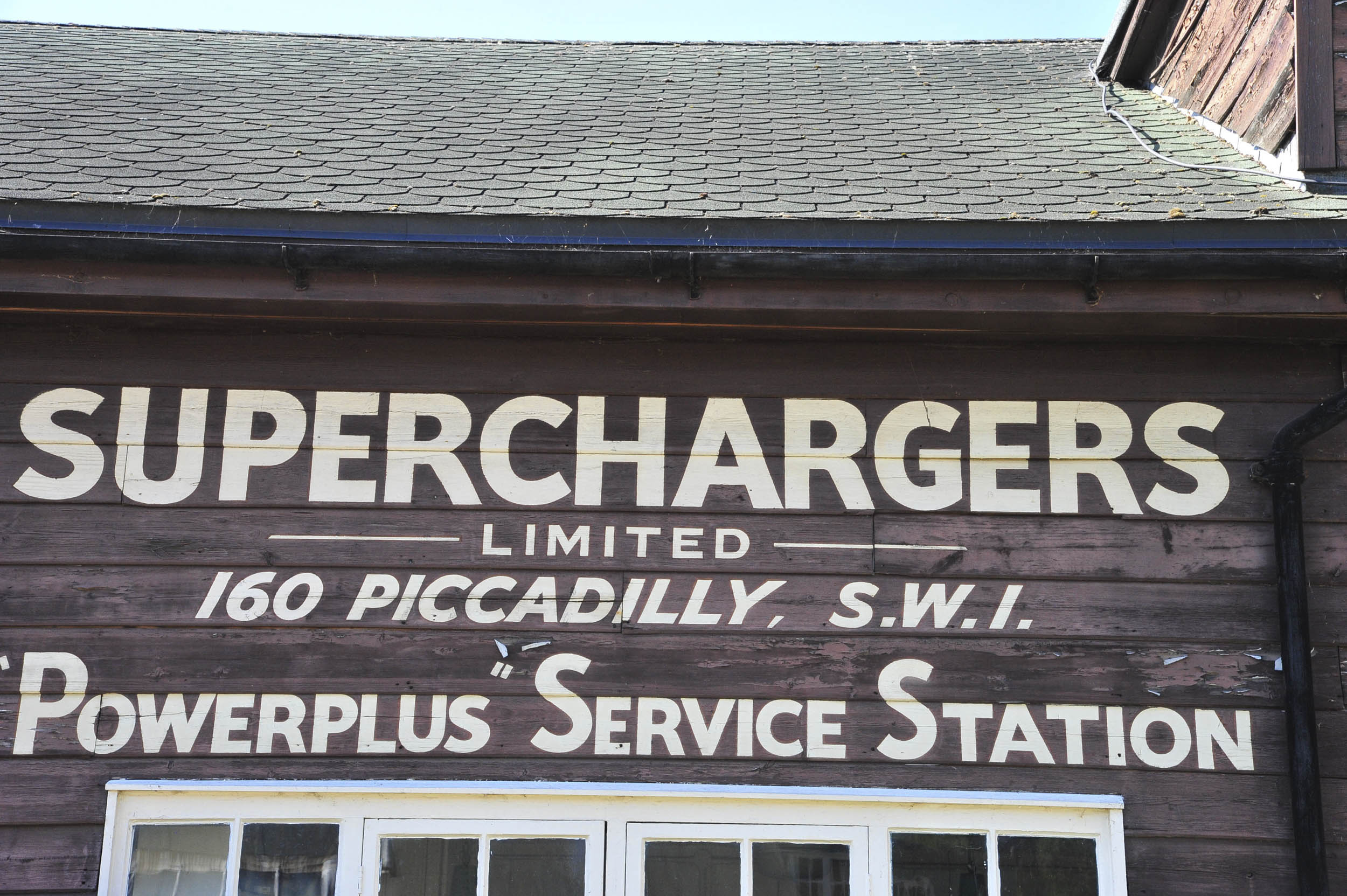 Brookland Museum Superchargers Powerplus service station