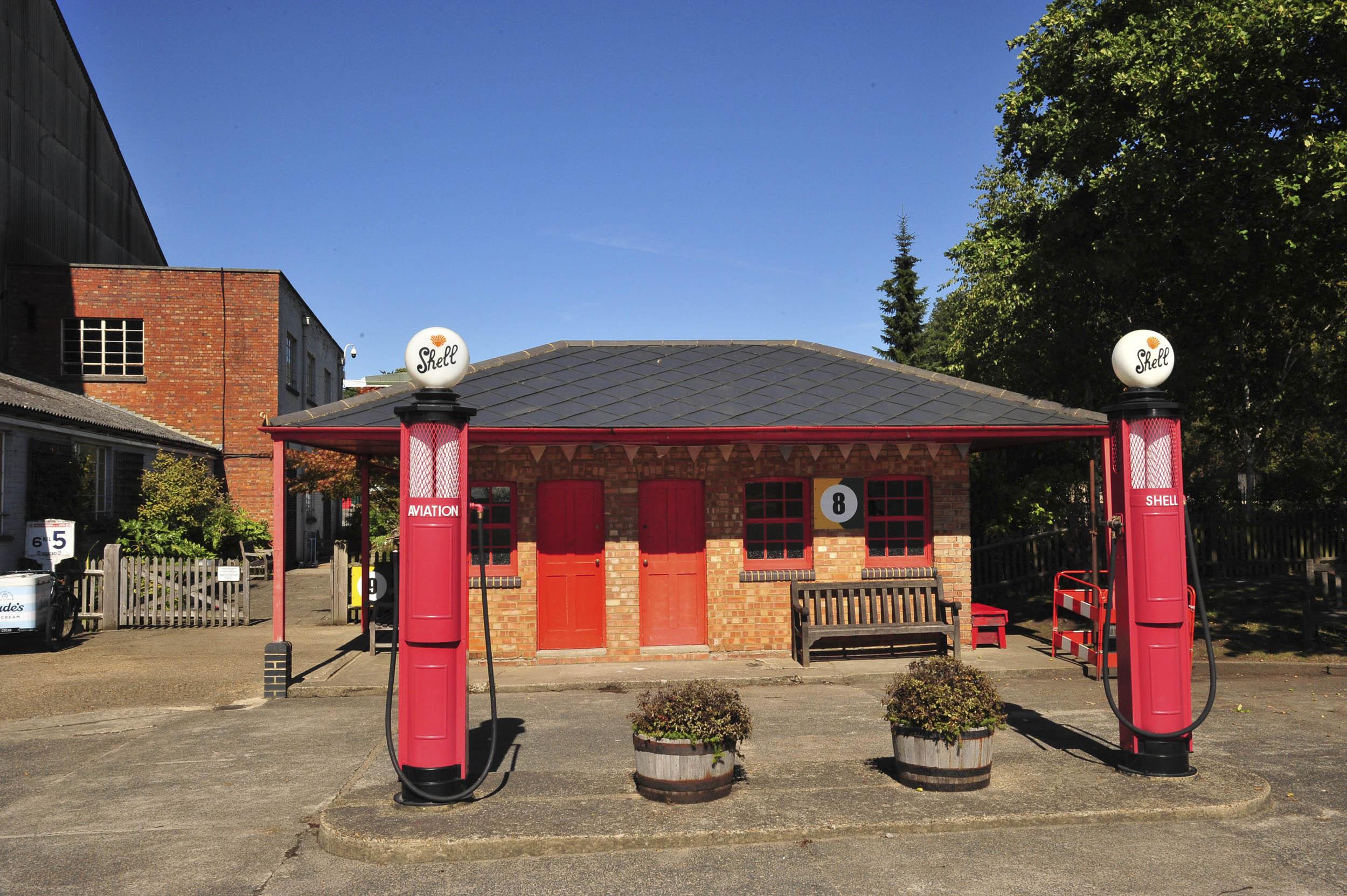 Brookland Museum shell fuel pumps