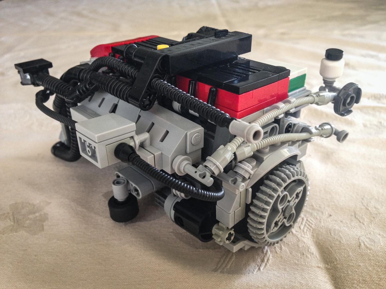 LEGO Ford Falcon Barra inline six rear 3/4 flywheel
