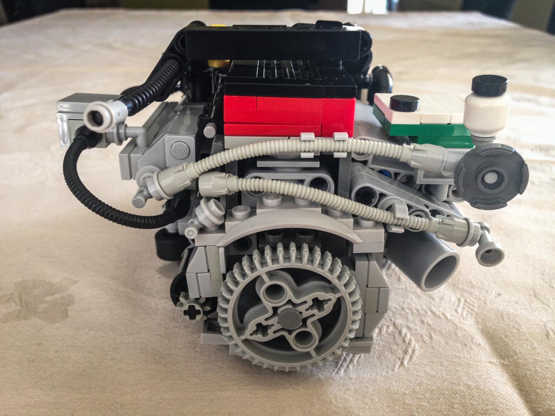 LEGO Ford Falcon Barra inline six rear flywheel