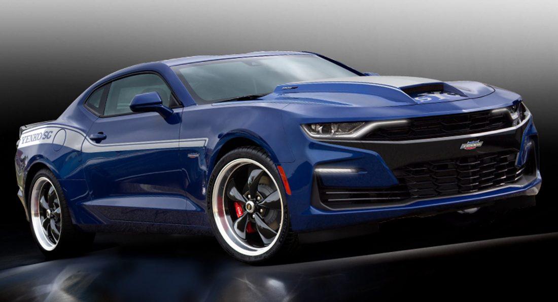 2019 Yenko Camaro blue low 3/4 front