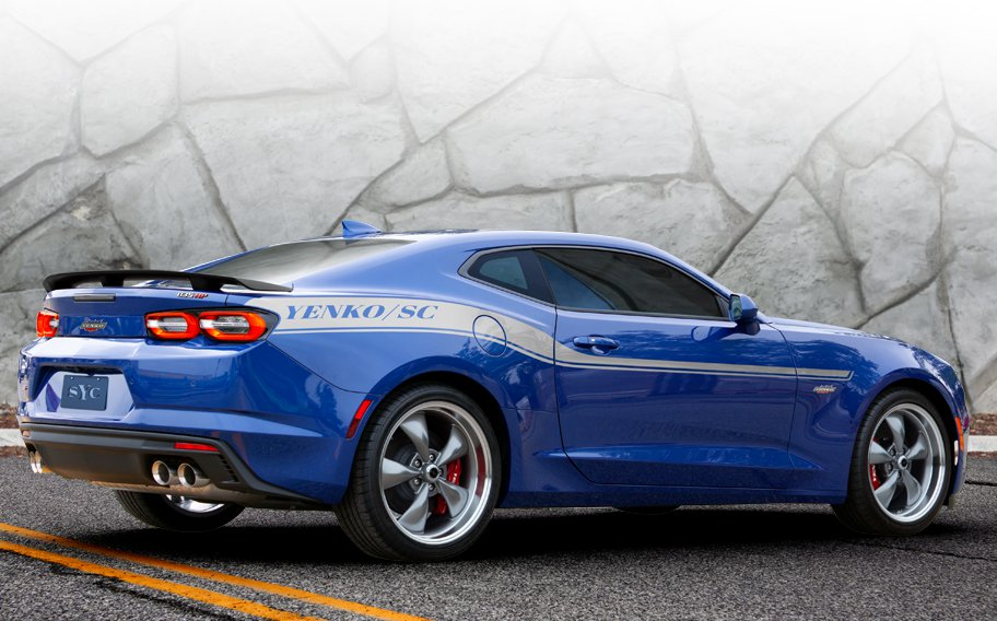 2019 Yenko Camaro blue 3/4 rear