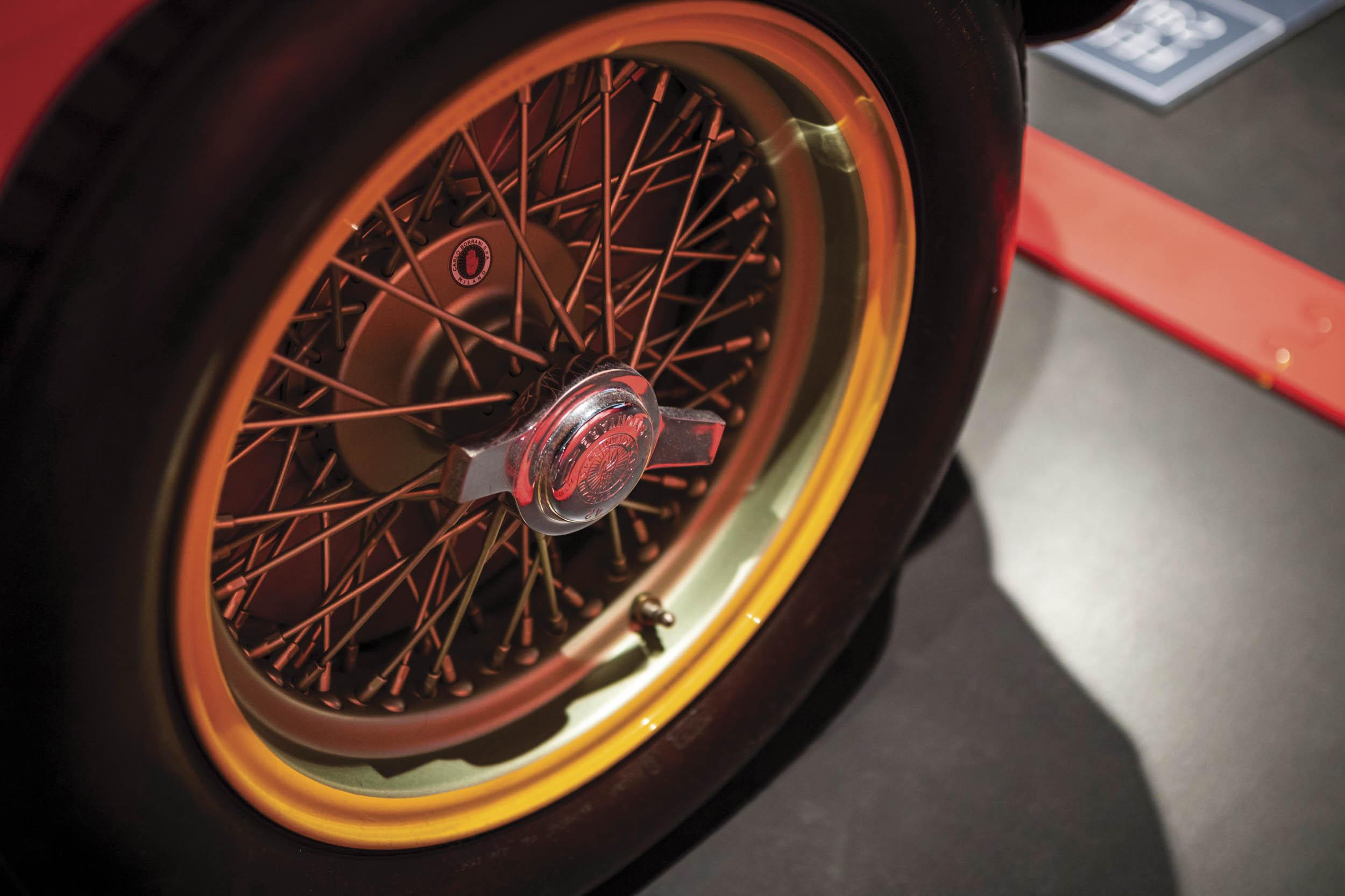 1956 Ferrari 290 MM by Scaglietti wheel detail