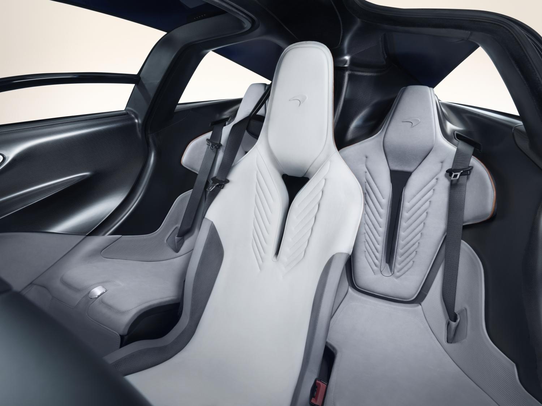 McLaren Speedtail interior middle seats