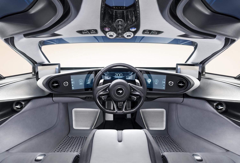 McLaren Speedtail interior steering wheel