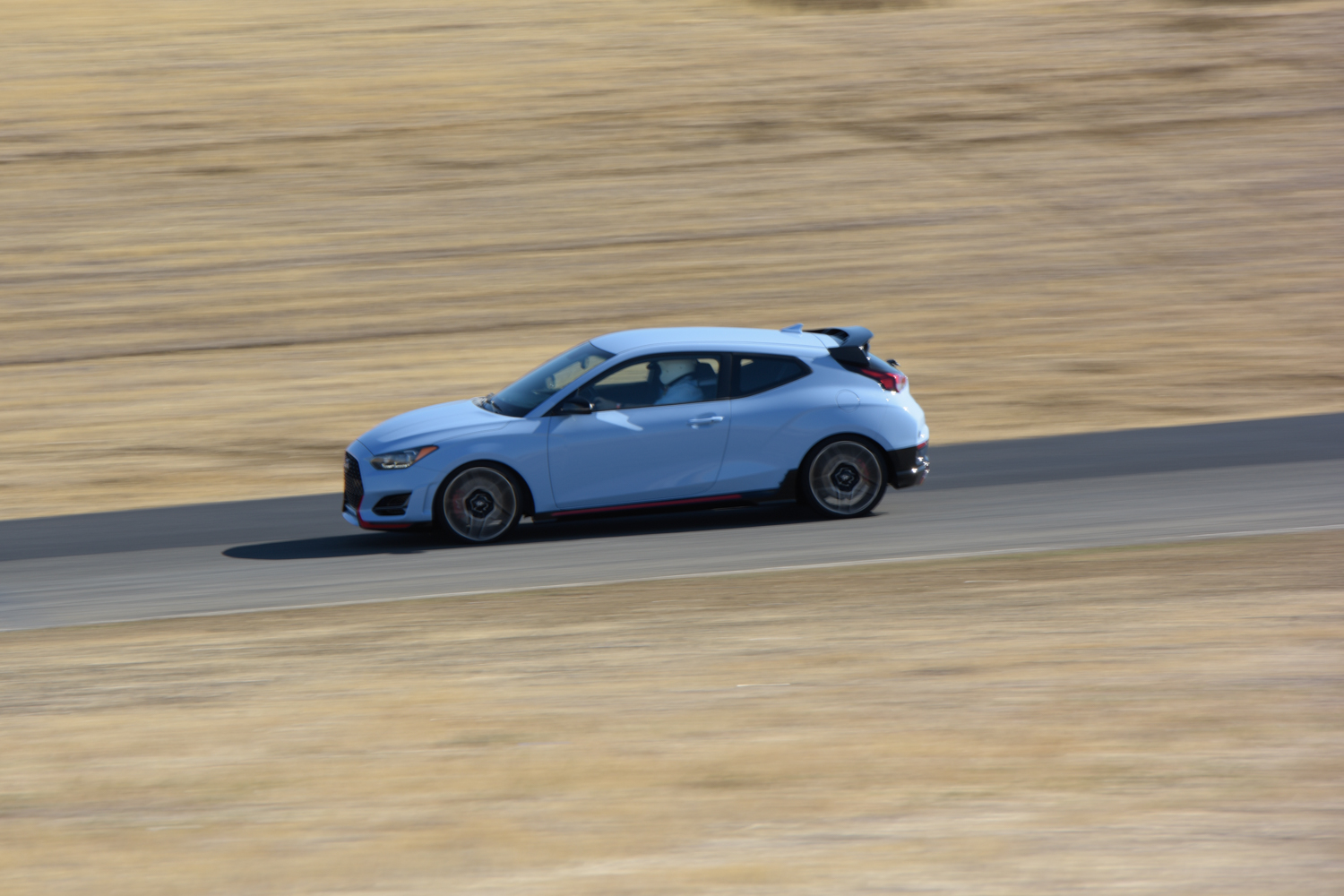 2019 Hyundai Veloster N on track side profile
