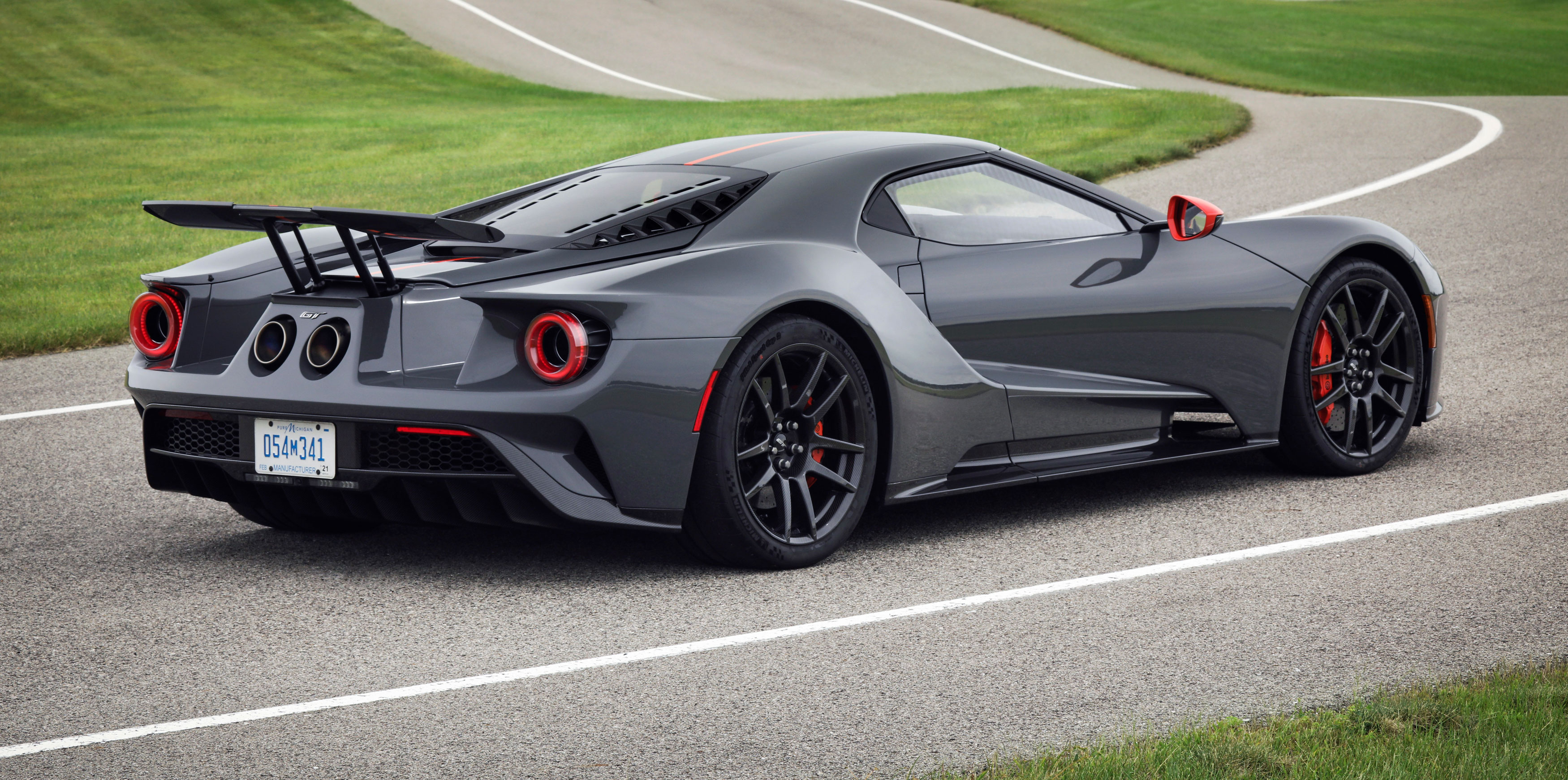 2019 ford gt carbon series rear wing exhaust