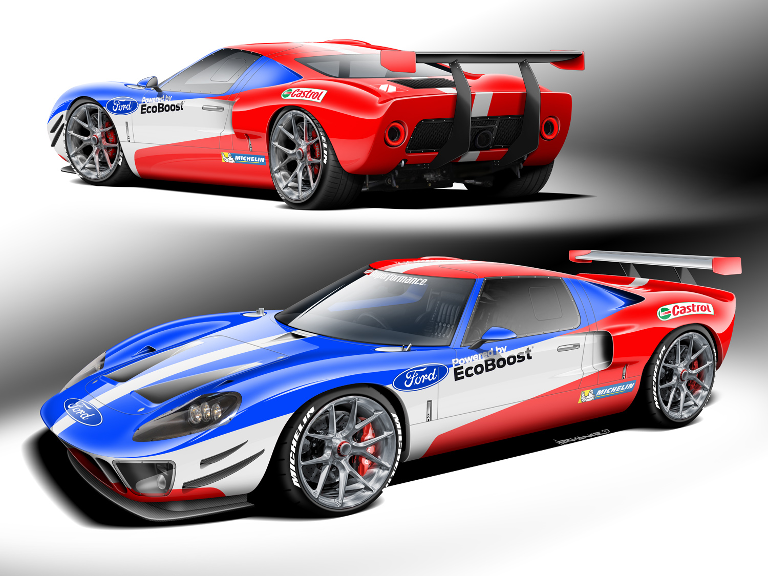 Superformance Future Forty rendering ecoboost gt40 ford