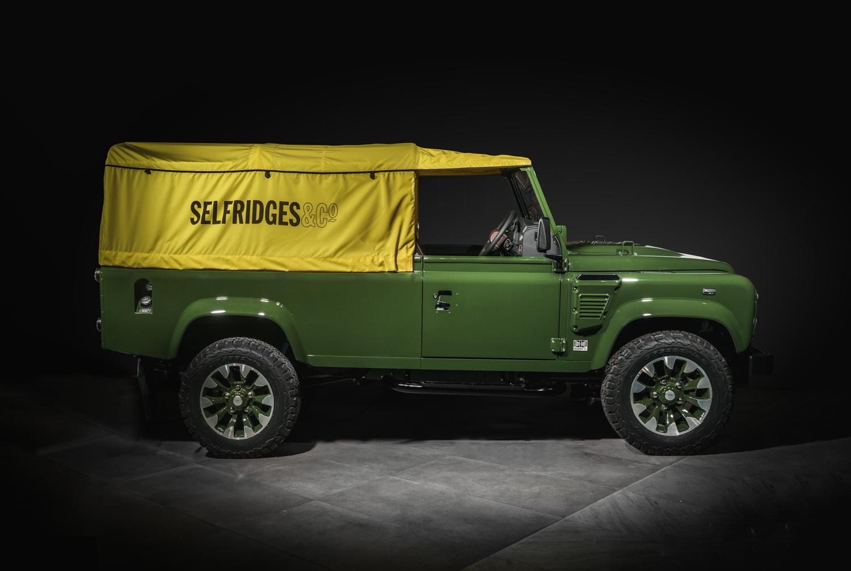 Selfridges Edition Land Rover Defender side profile