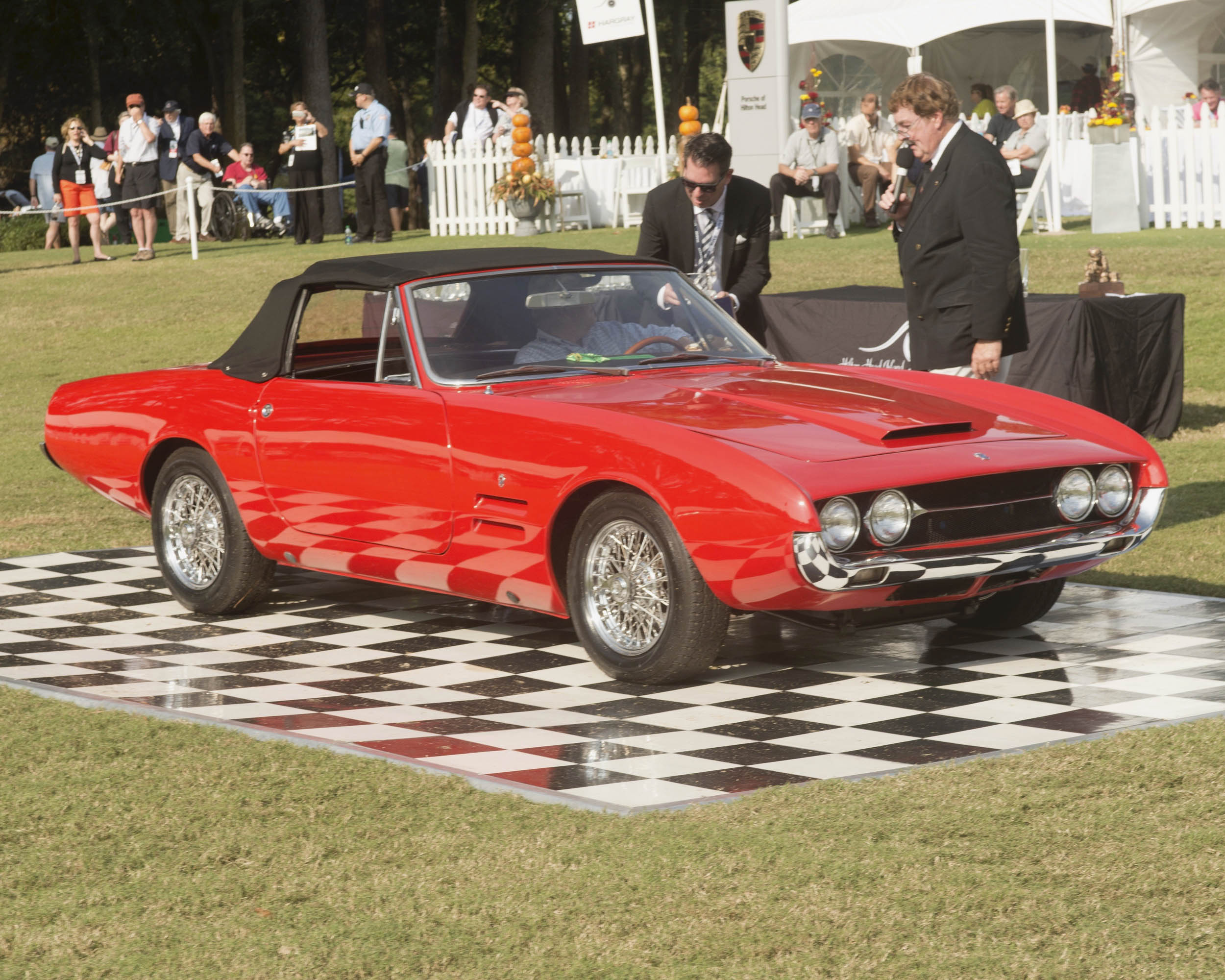 Jim MacDougald's Ghia 450/SS at the Hilton Head Concours d'Elegance.