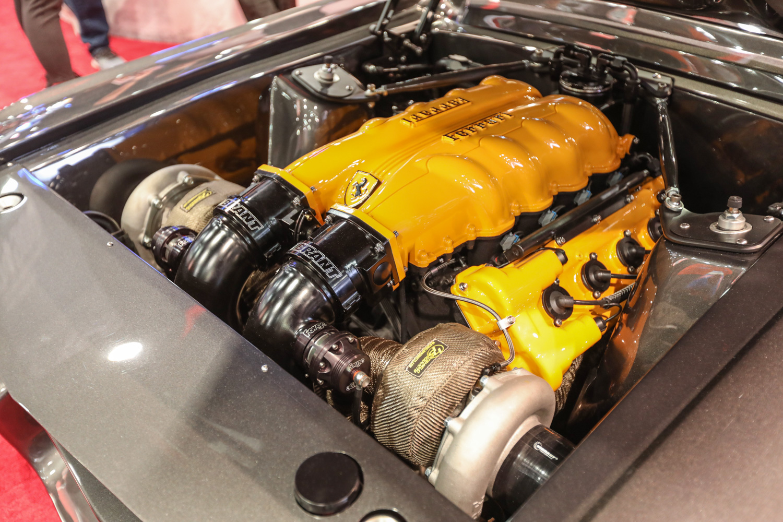 twin turbo ferrari swapped mustang