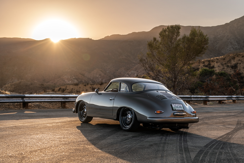 "1960 Porsche ""Emory  Special"" 356 rear 3/4 sunset"