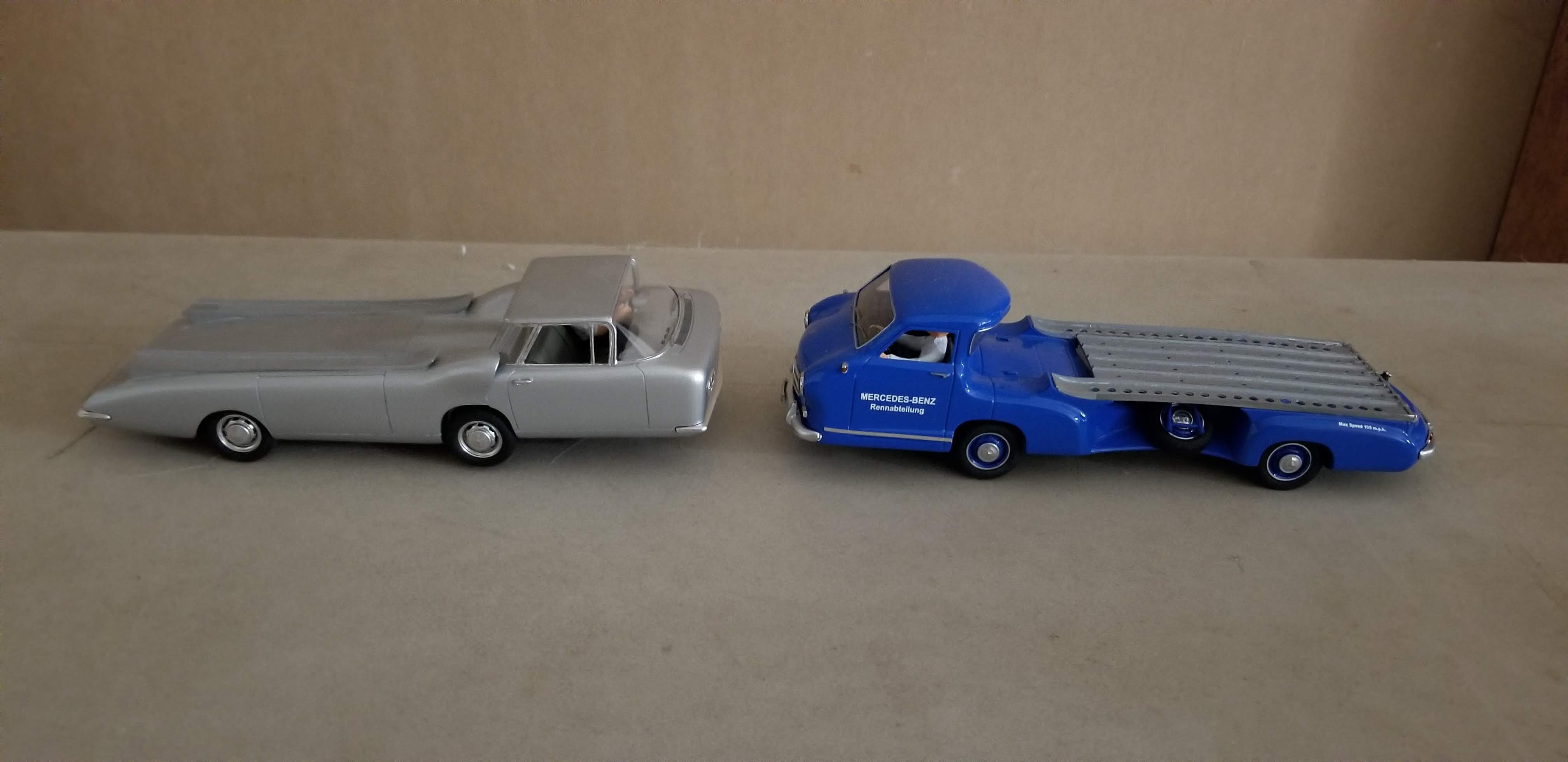Cheetah Transporter and mercedes scale models