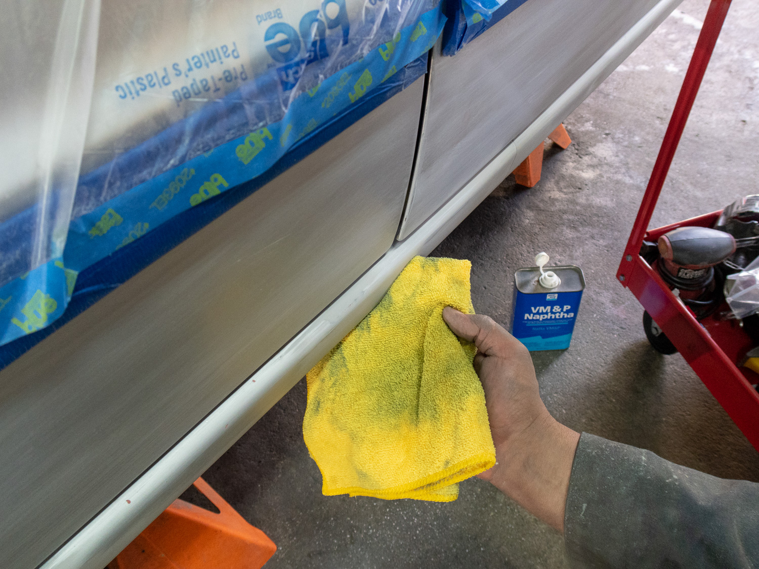 cleaning surface before paint