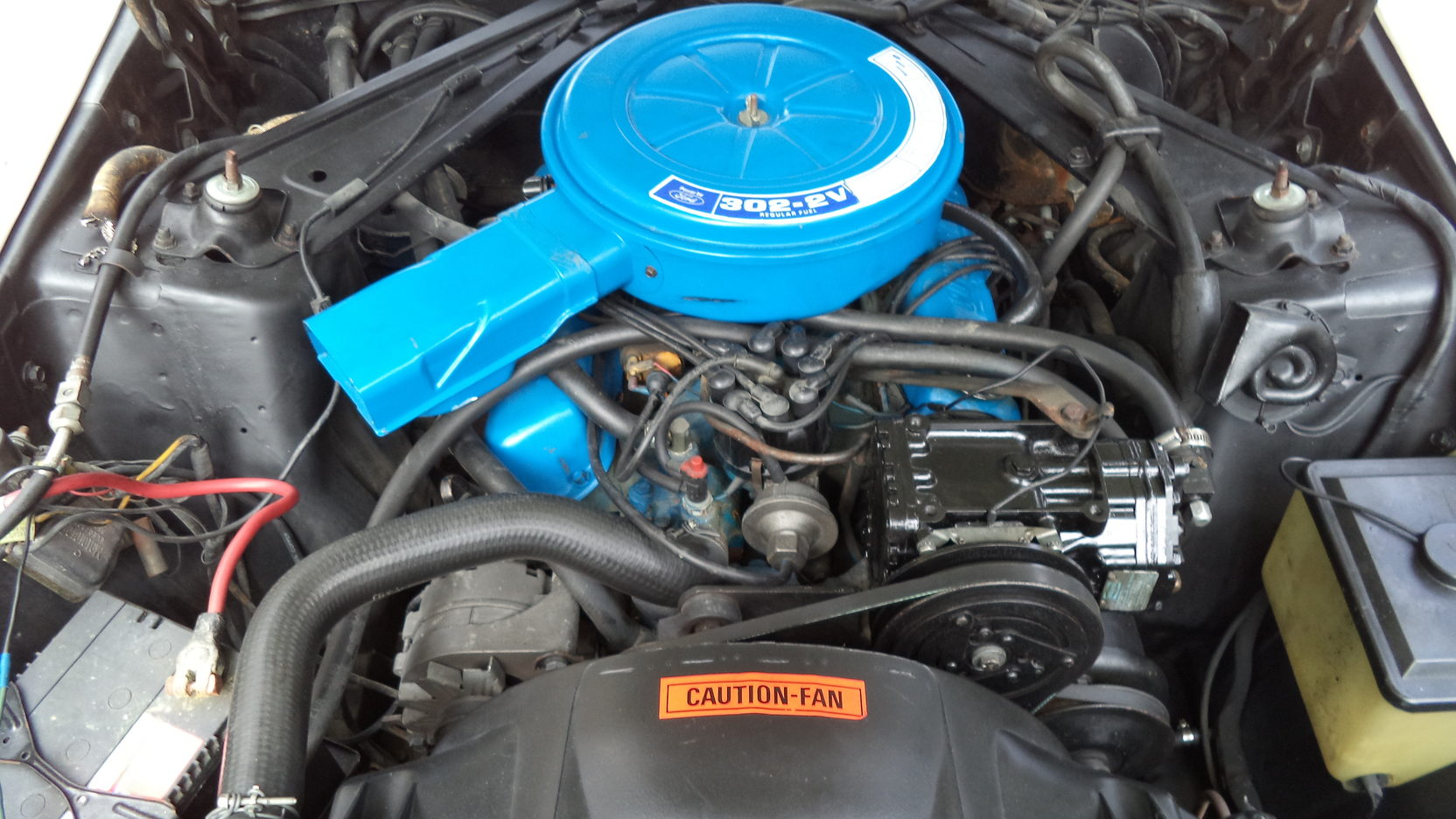 1972 Ford Mustang Sprint USA engine